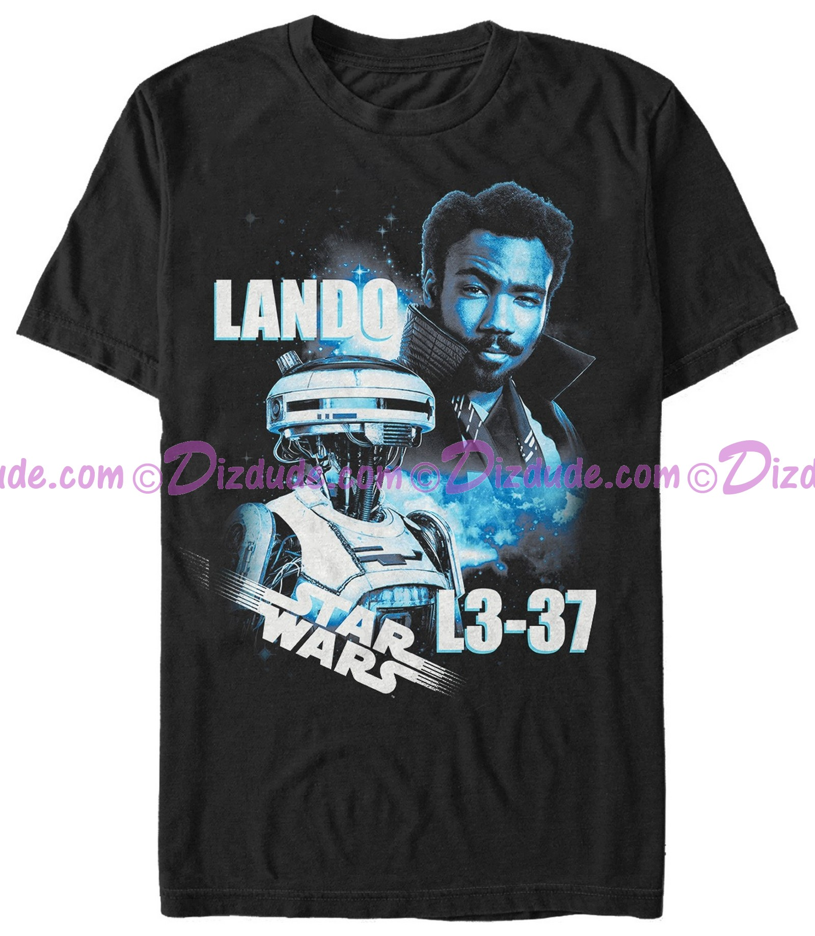 SOLO A Star Wars Story L3-37 & Lando Adult T-Shirt (Tshirt, T shirt or Tee)  © Dizdude.com
