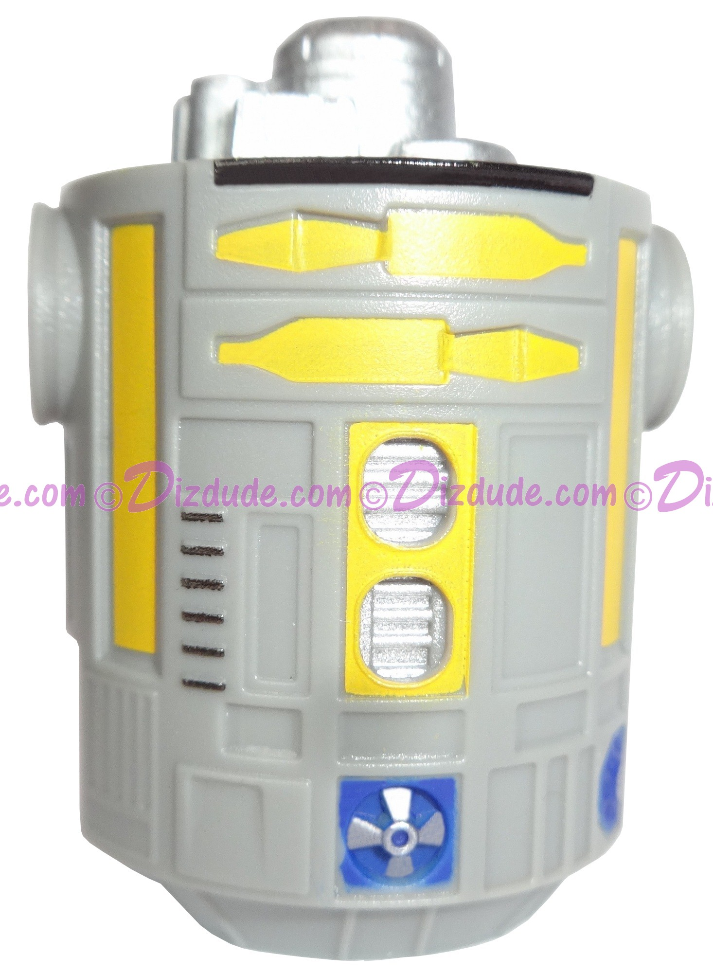 Gray & Yellow Astromech Droid Body ~ Series 2 from Disney Star Wars Build-A-Droid Factory © Dizdude.com