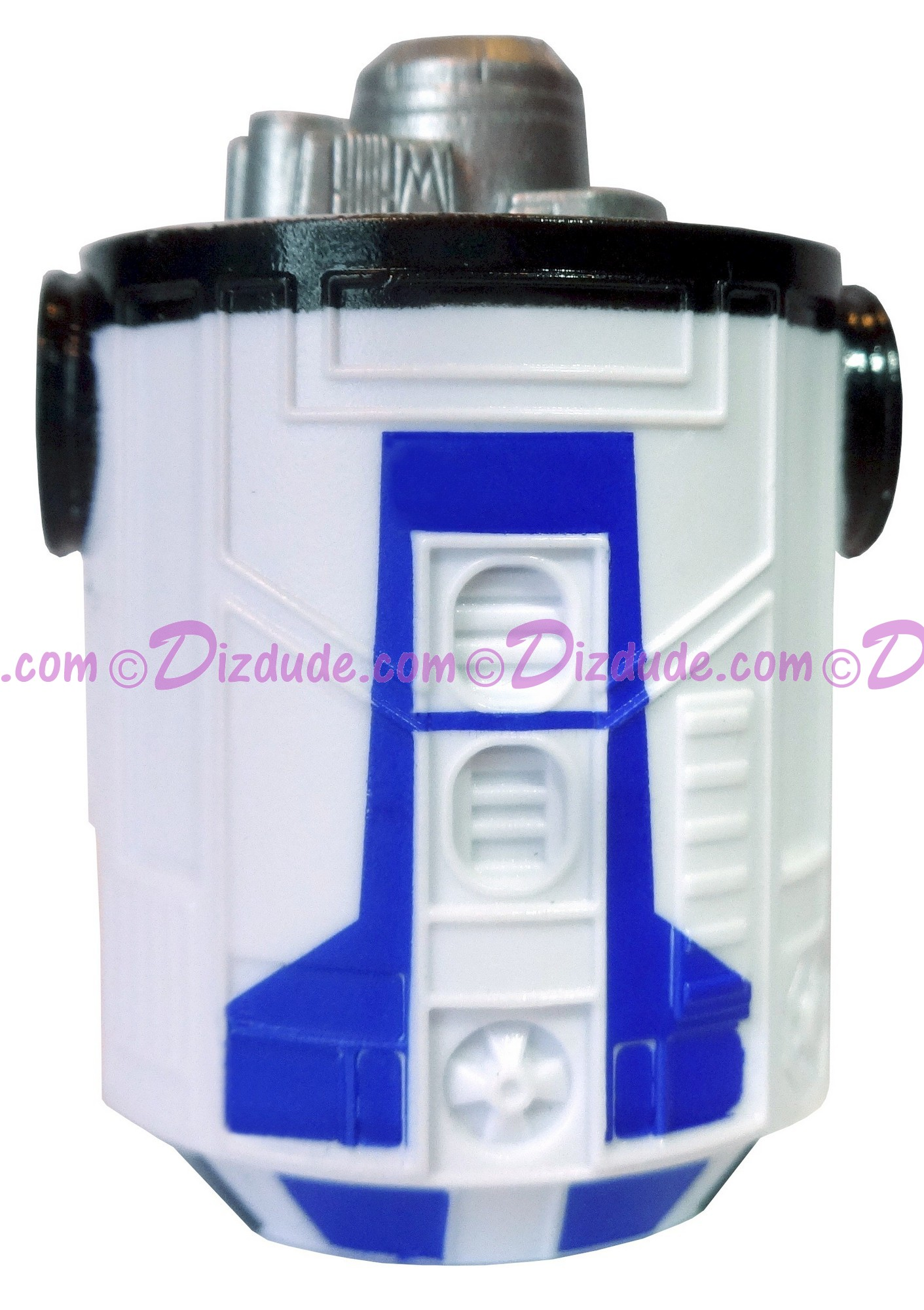 White - Blue & Black  Astromech Droid Body ~ Series 2 from Disney Star Wars Build-A-Droid Factory © Dizdude.com