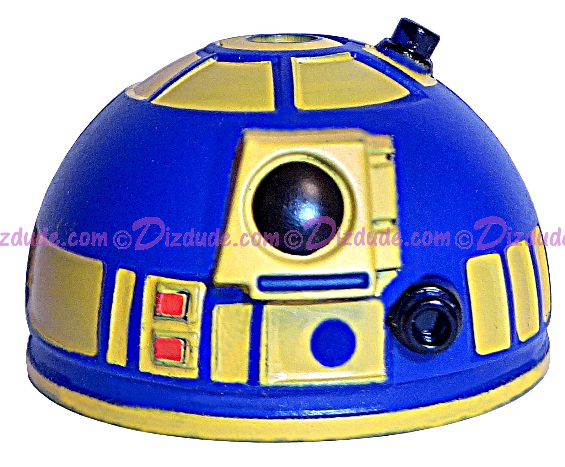 Blue & Yellow Astromech Droid Dome ~ Series 2 from Disney Star Wars Build-A-Droid Factory © Dizdude.com