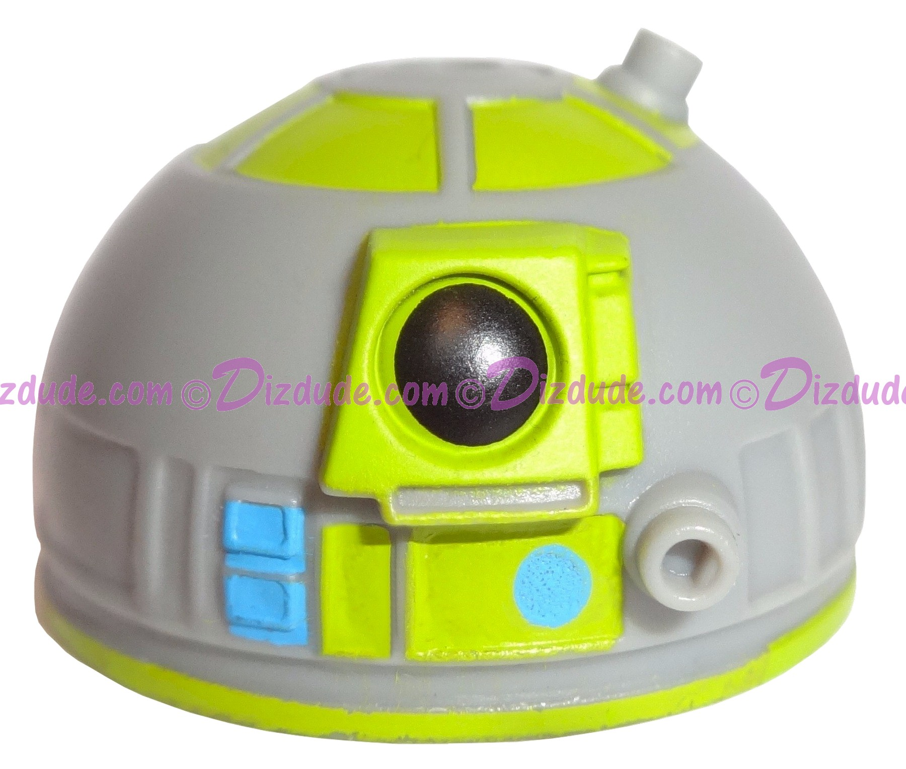 Gray Astromech Droid Dome ~ Series 2 from Disney Star Wars Build-A-Droid Factory © Dizdude.com