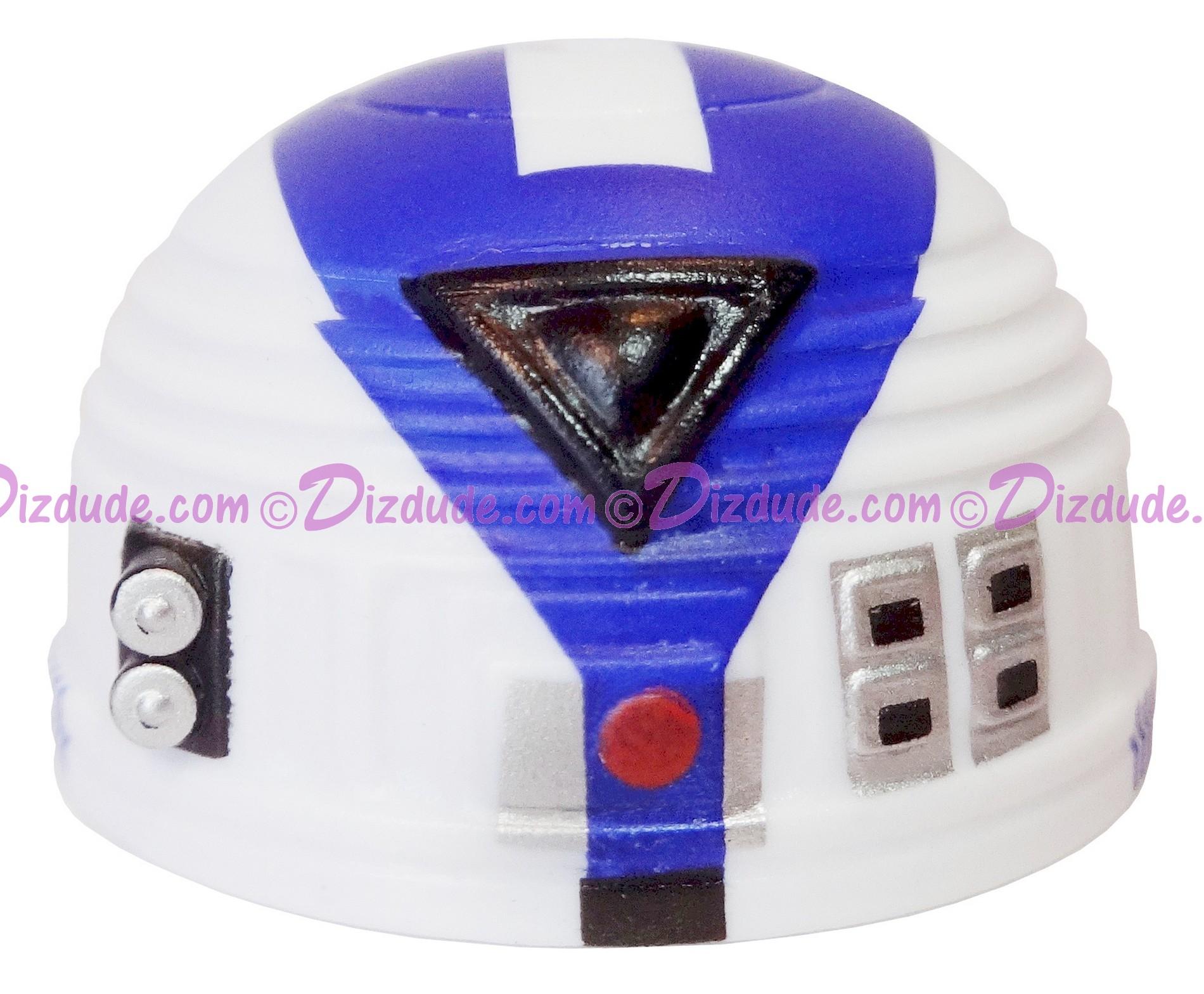 R7 White & Blue Astromech Droid Dome ~ Series 2 from Disney Star Wars Build-A-Droid Factory © Dizdude.com