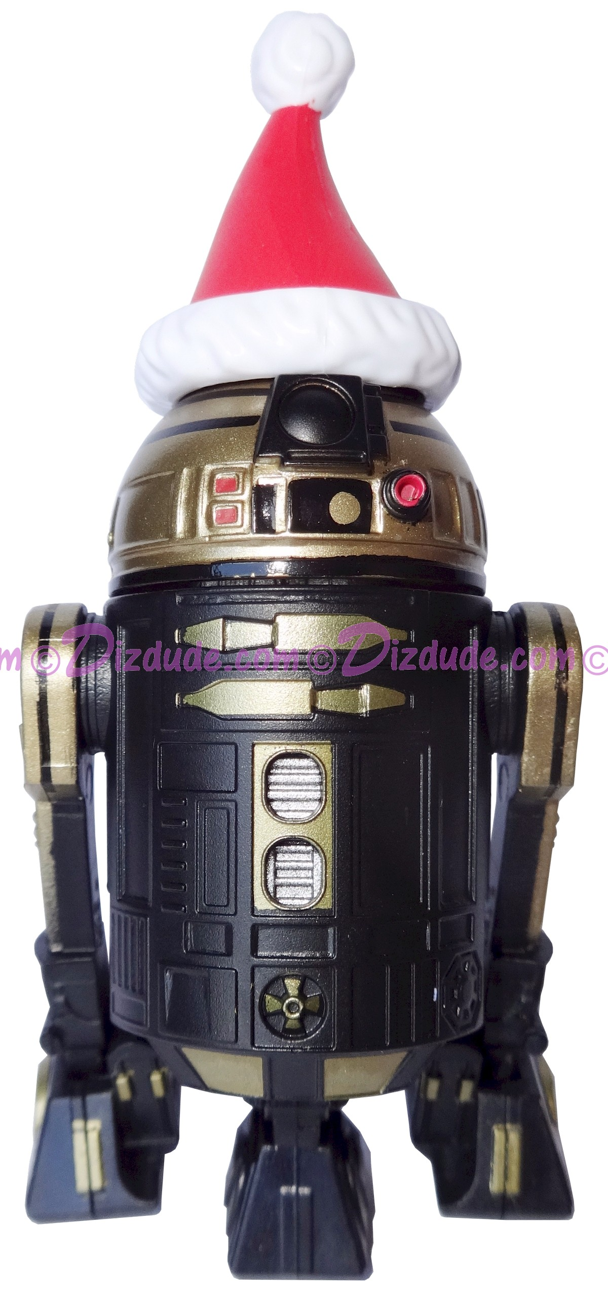 Black & Gold R2 with Santa Hat Astromech Droid ~ Series 2 Disney Star Wars Build-A-Droid Factory © DIZDUDE.COM
