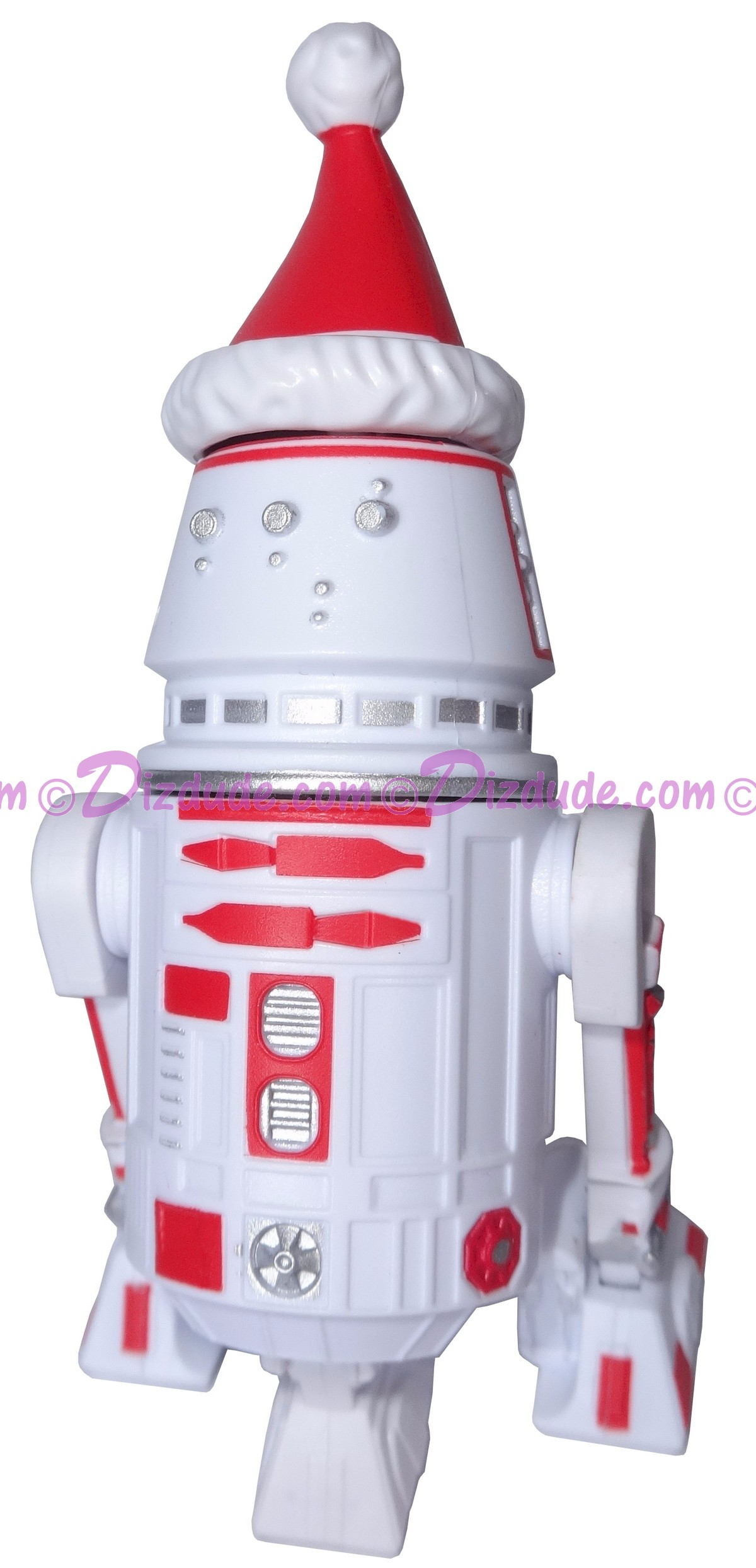 White & Red R5-D4 with Santa Hat Astromech Droid ~ Series 2 Disney Star Wars Build-A-Droid Factory © DIZDUDE.COM