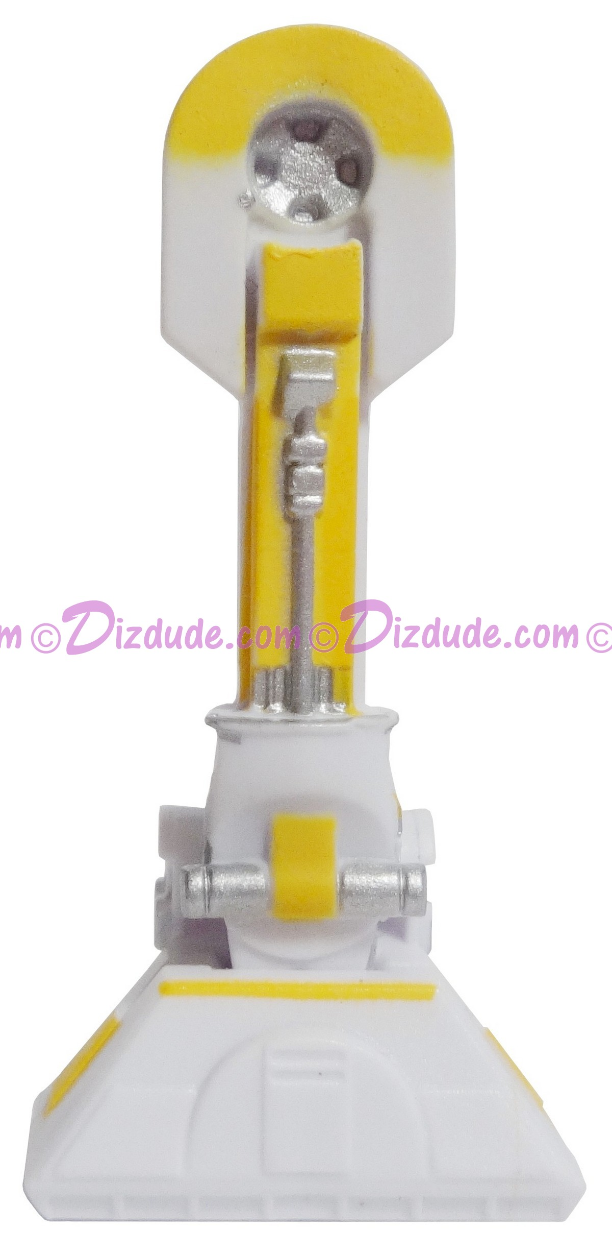 A Pair of White & Yellow Astromech Droid Leg Parts ~ Series 2 from Disney Star Wars Build-A-Droid Factory © Dizdude.com