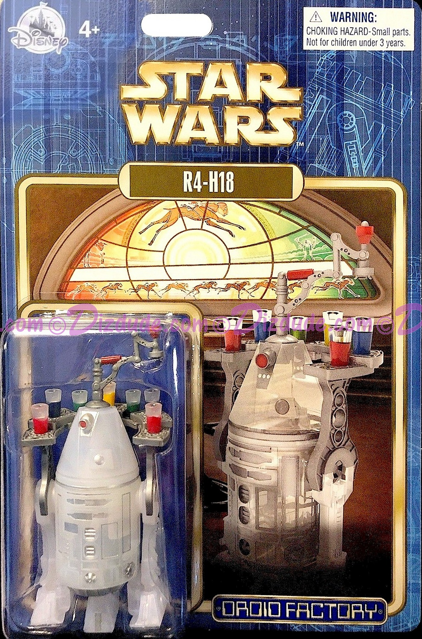 Star Wars R4-H18 Astromech Droid - Disney World DROID FACTORY Action Figures 3¾ Inch - Limited Release © Dizdude.com