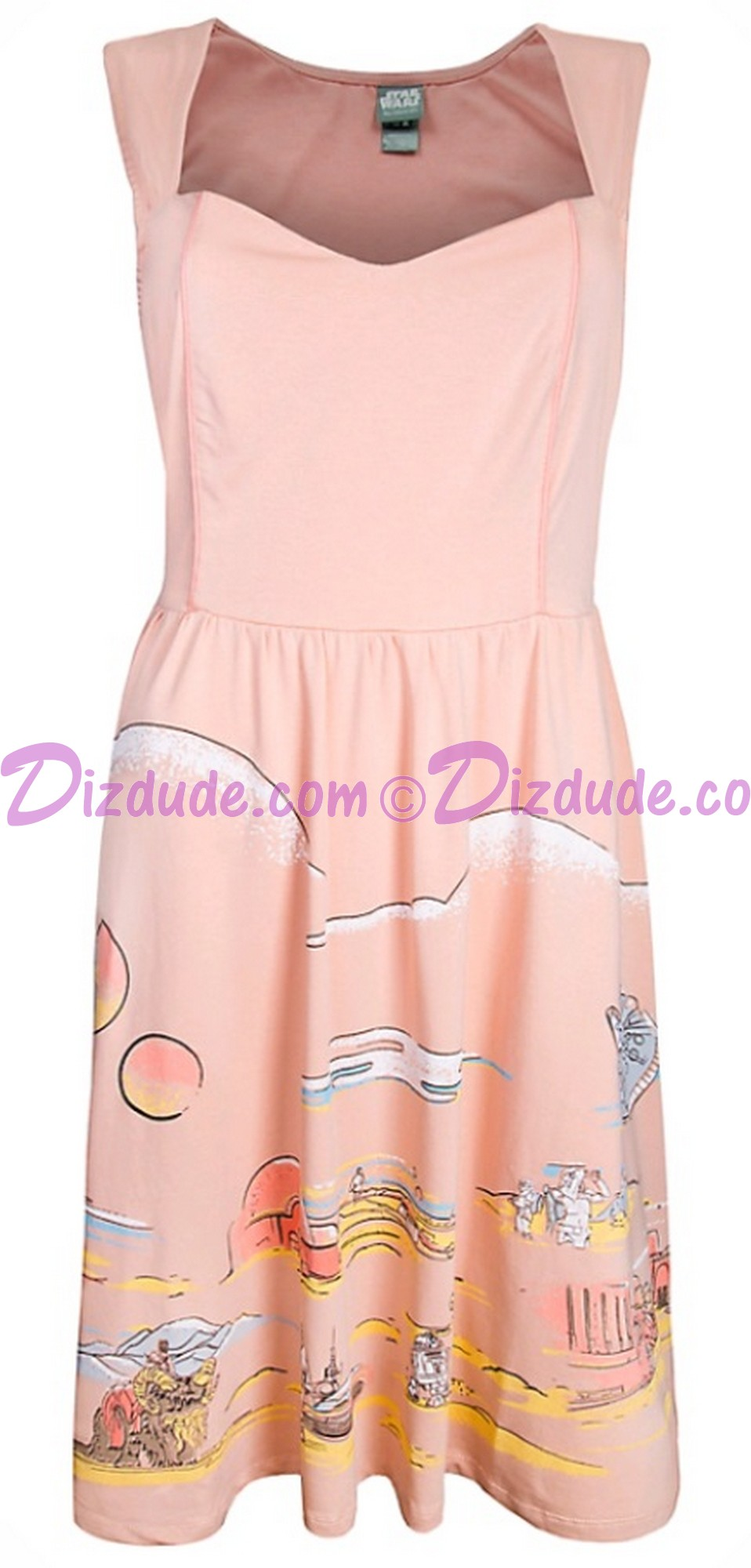 Disney Star Wars Tatooine Vintage 50s Style Ladies Dress © Dizdude.com