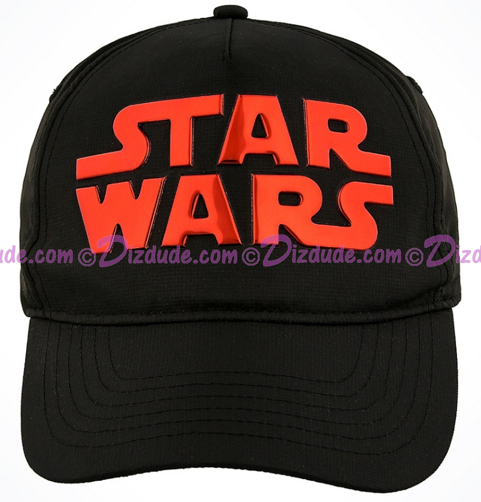 Disney Star Wars Title Logo Black & Red Adjustable Baseball Hat © Dizdude.com