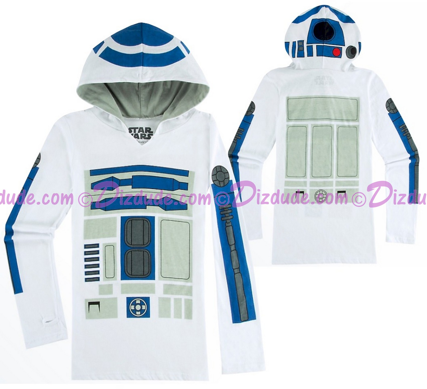 R2-D2 Long Sleeved Ladies Hoodie - Disney's Star Wars © Dizdude.com