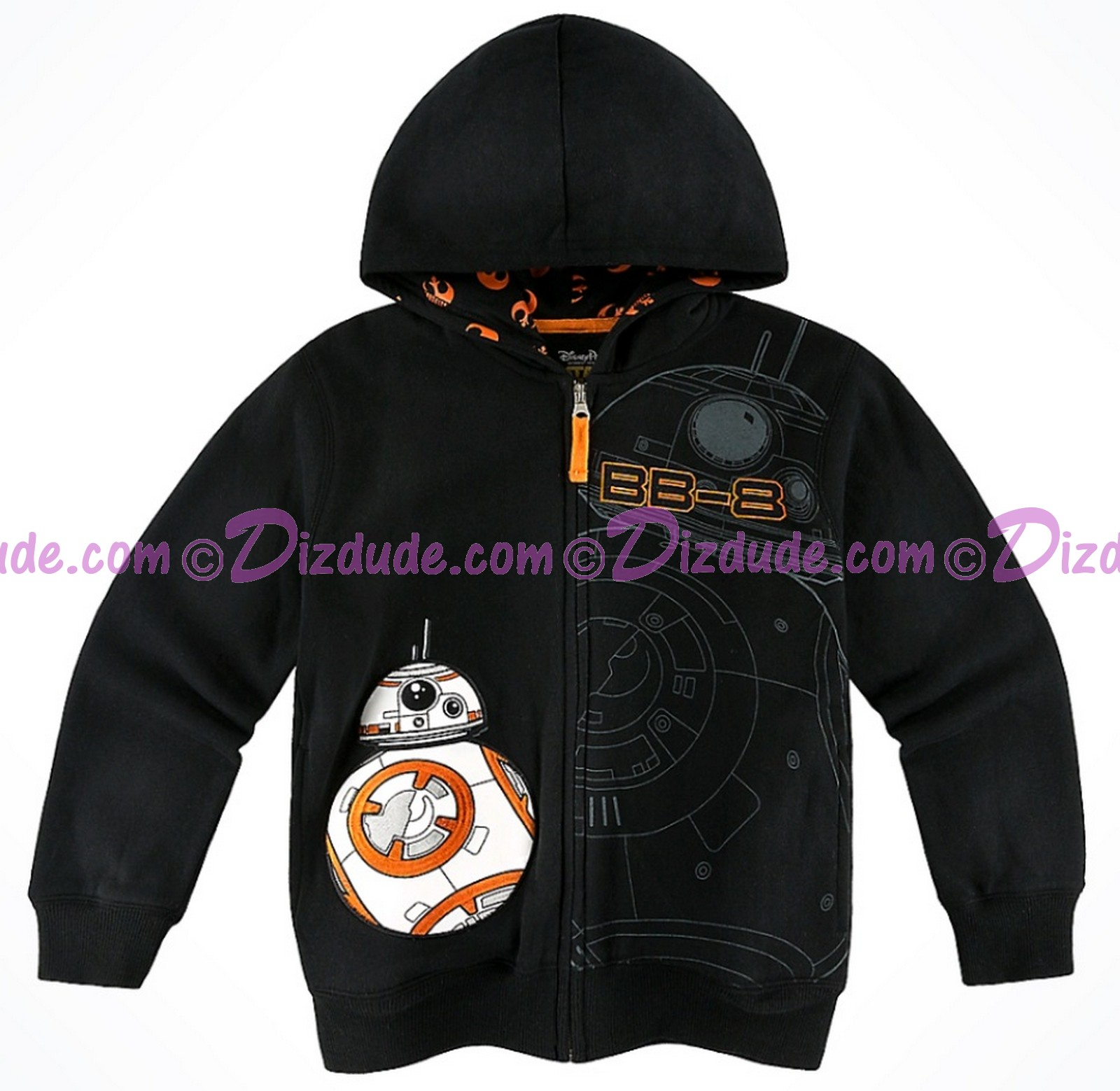 Disney Star Wars BB-8 Youth Zip Hoodie  © Dizdude.com