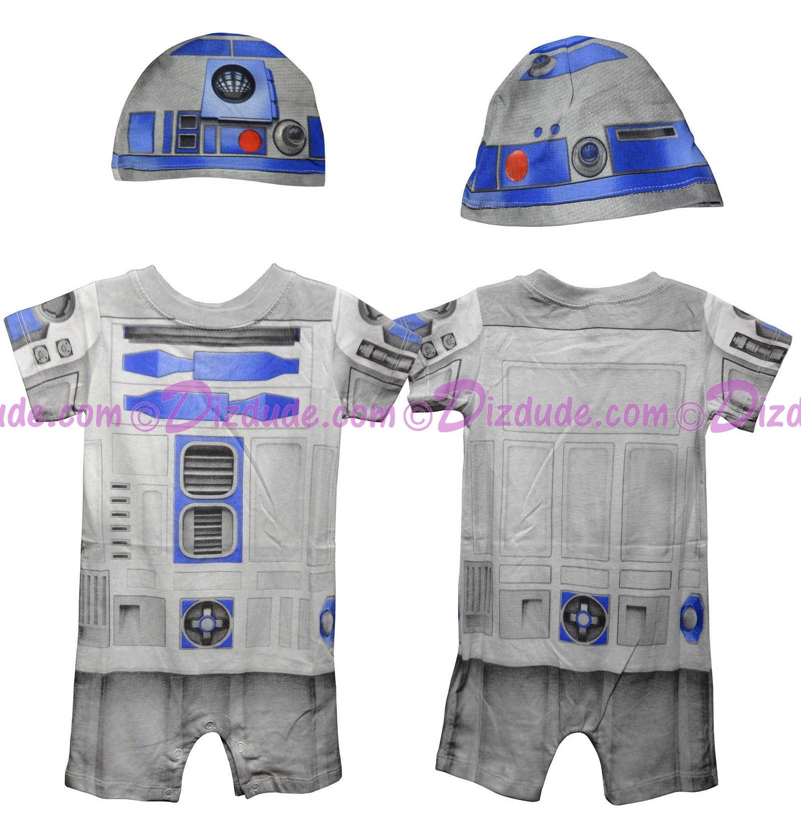 Disney Star Wars R2-D2 Baby Onesie - Costume With Hat (All Over Print) © Dizdude.com