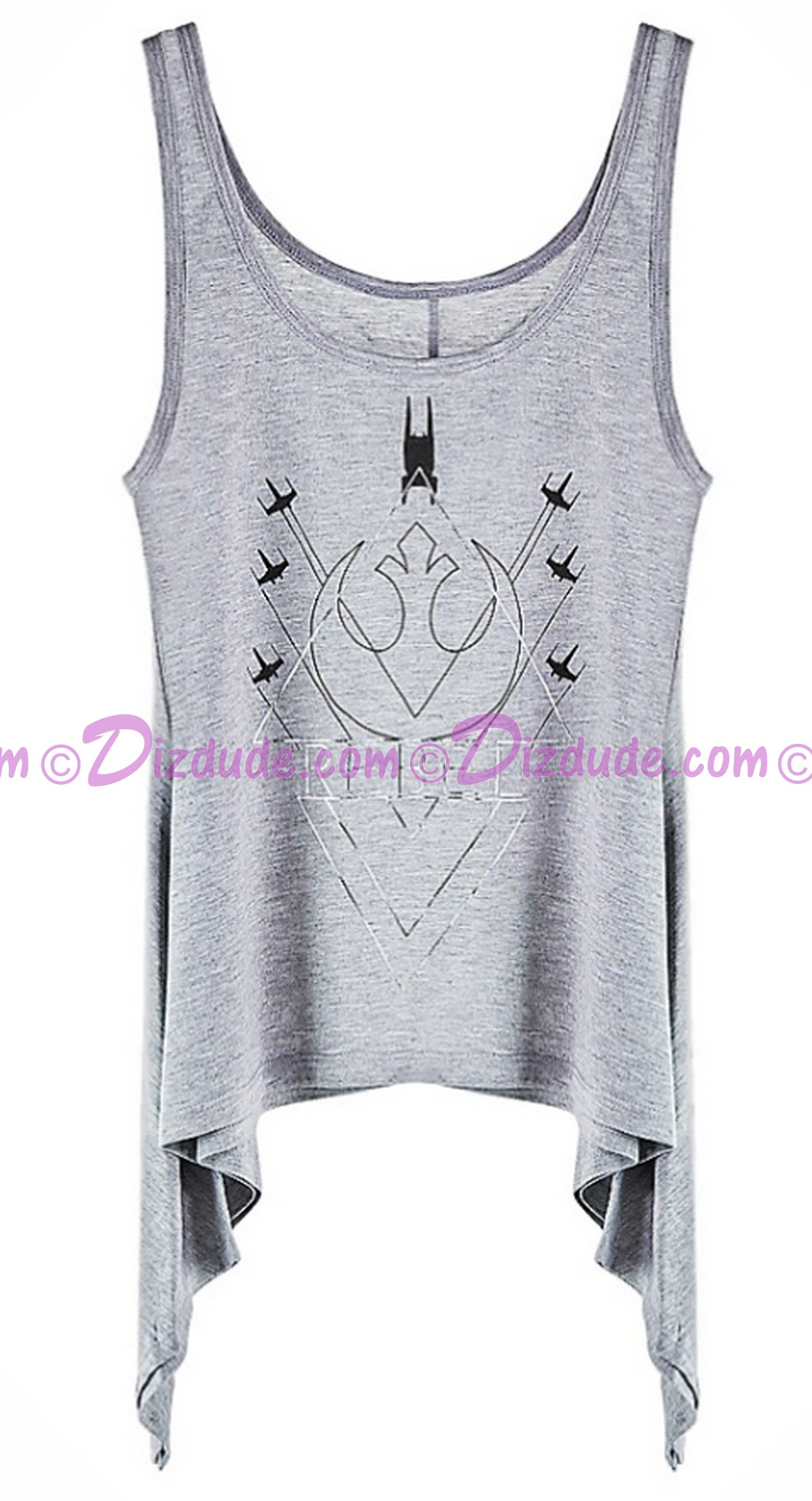 Rogue One Rebel Rogue Squadron Hi-Lo Adult Tank Top - Disney's Star Wars © Dizdude.com