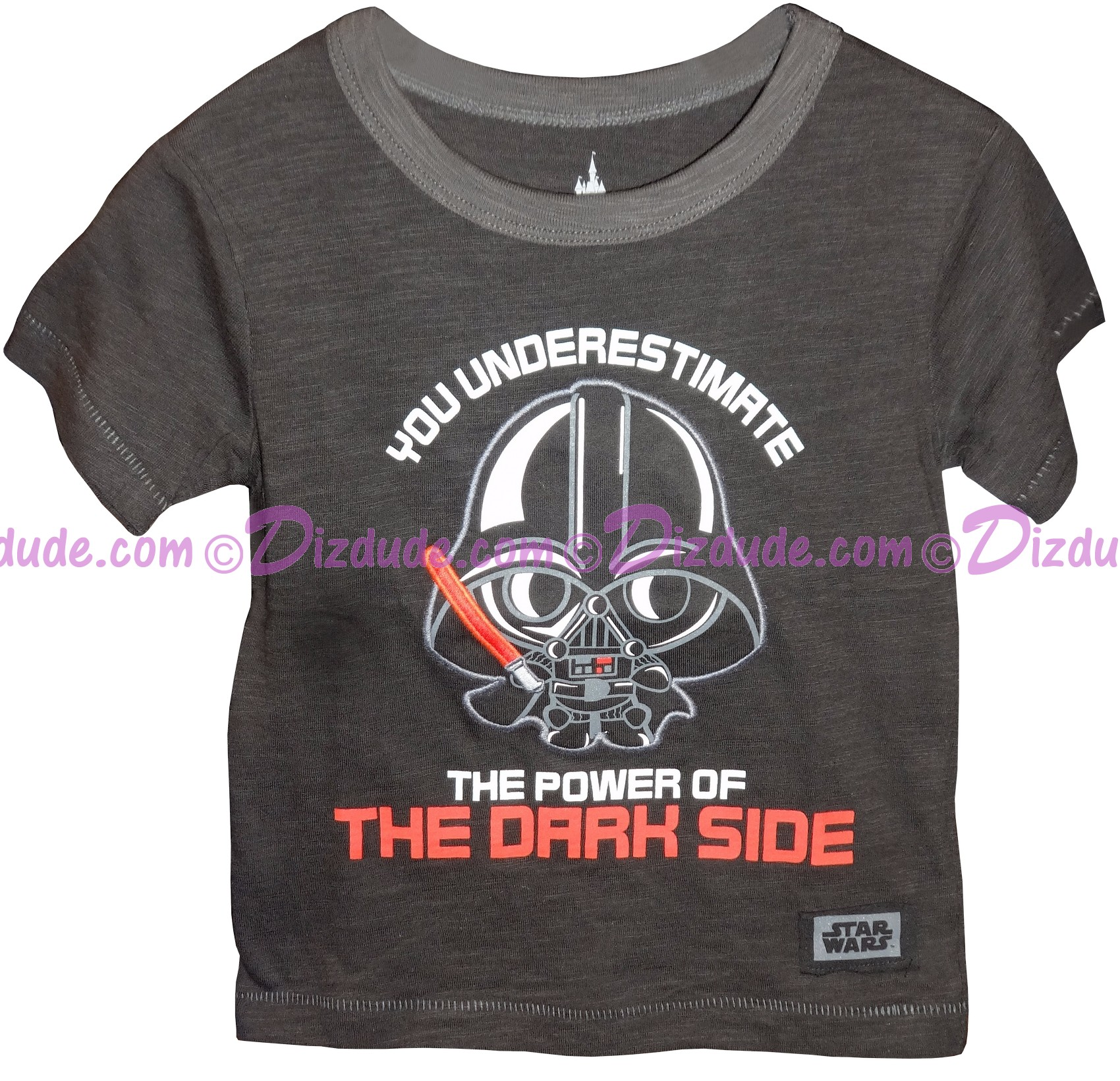 "Disney Star Wars ""You Underestimate The Power Of The Dark Side"" Darth Vader Toddler T-Shirt © Dizdude.com"