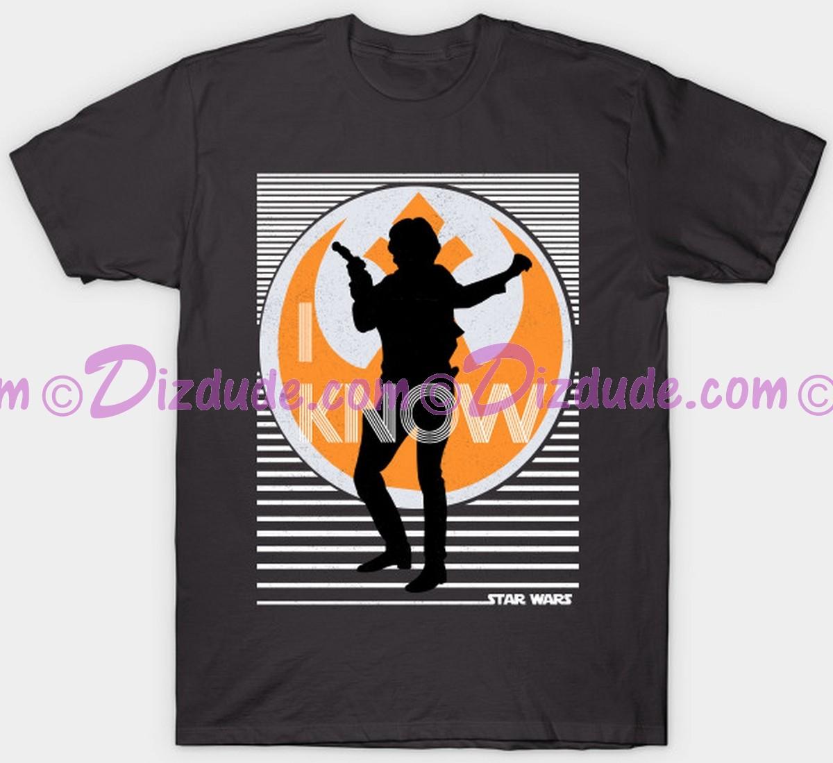 Vintage Star Wars Han Solo I Know Adult Companion T-Shirt (Tshirt, T shirt or Tee) © Dizdude.com