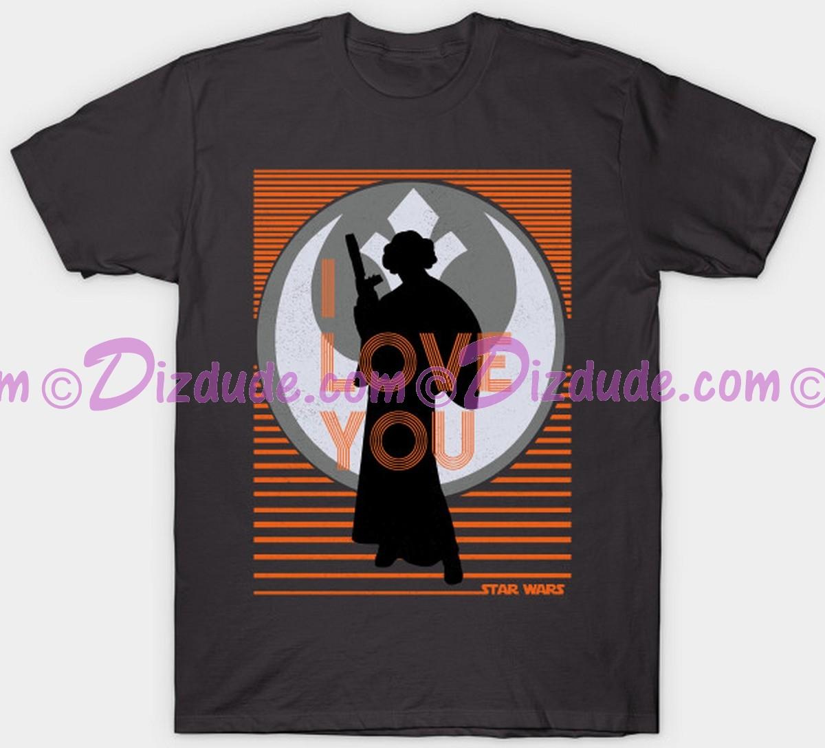 """Vintage Star Wars Princess Leia """"I Love You"""" Adult T-Shirt (Tshirt, T shirt or Tee) © Dizdude.com"""