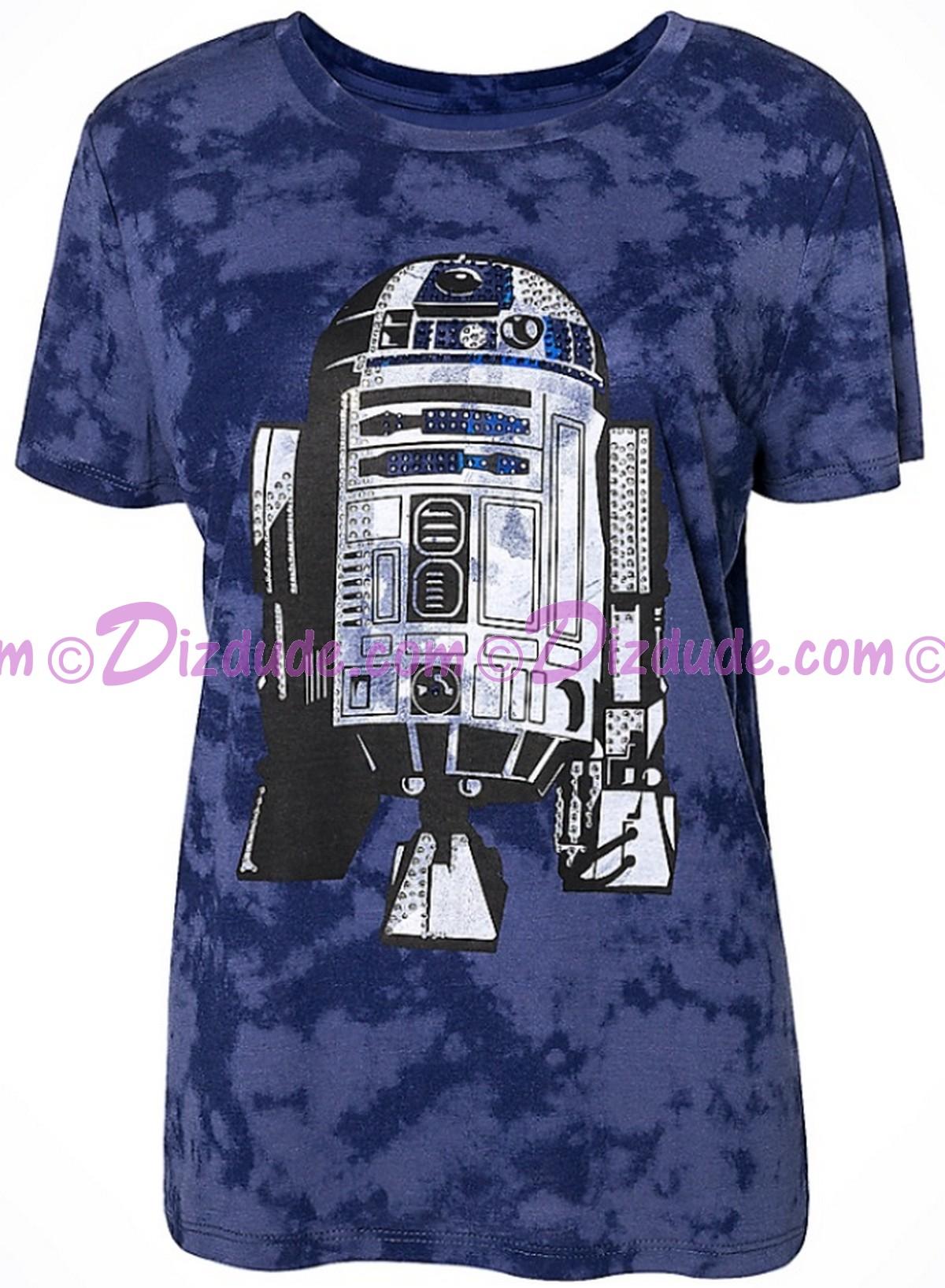 Disney Star Wars R2-D2 Bling Adult T-shirt (Tee, Tshirt or T shirt) © Dizdude.com