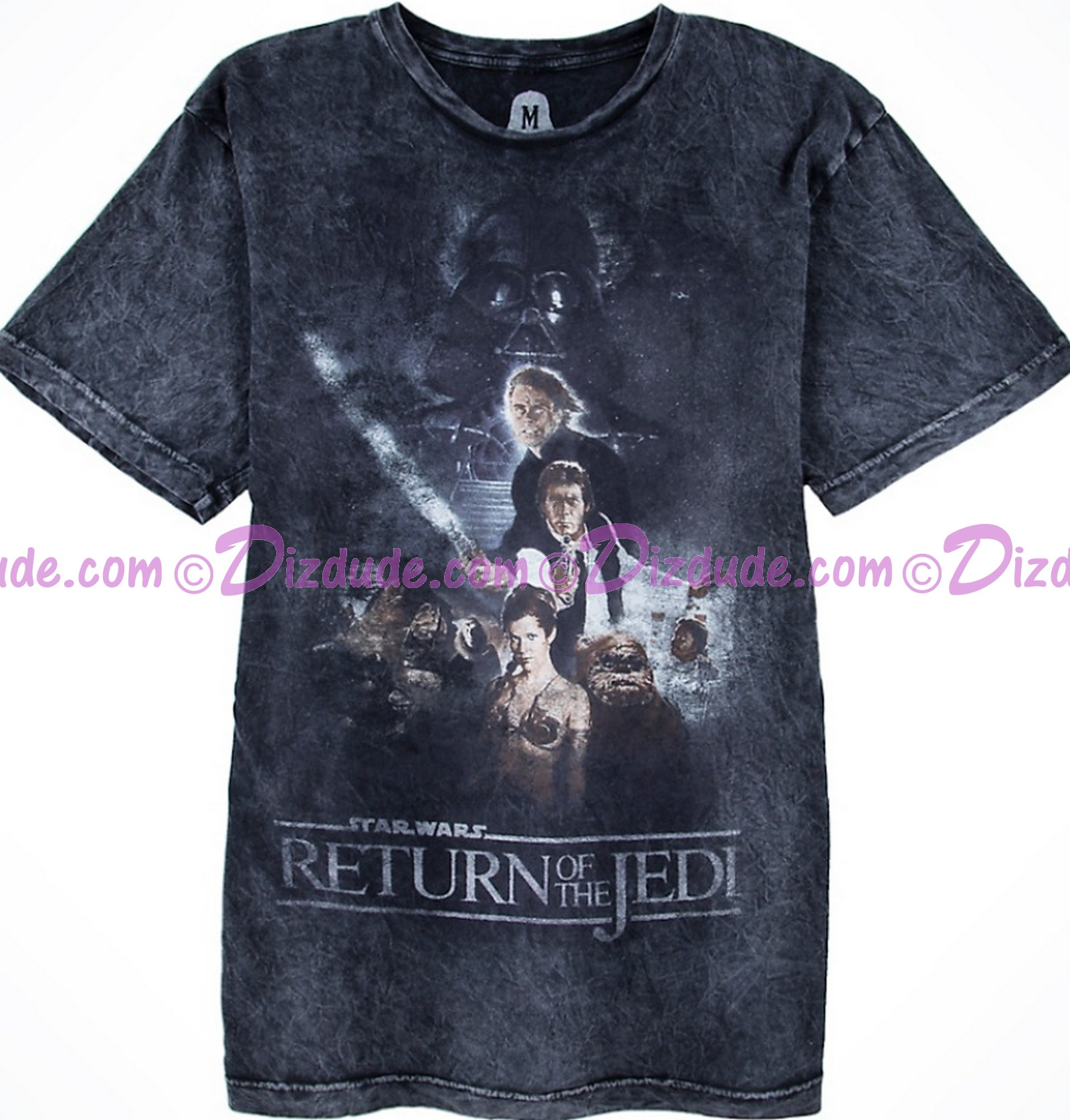 Return Of The Jedi Acid Wash Style Poster Adult T-Shirt (Tshirt, T shirt or Tee) - Disney's Star Wars © Dizdude.com