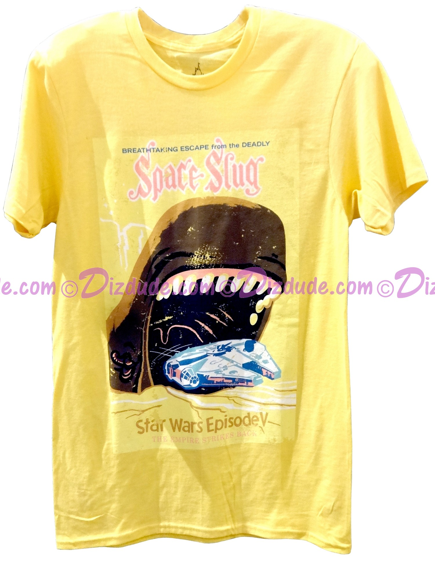 96646ec01876b0 (SOLD OUT) Star Wars Episode V  The Empire Strikes Back - Space Slug Poster  Adult T-Shirt (Tshirt