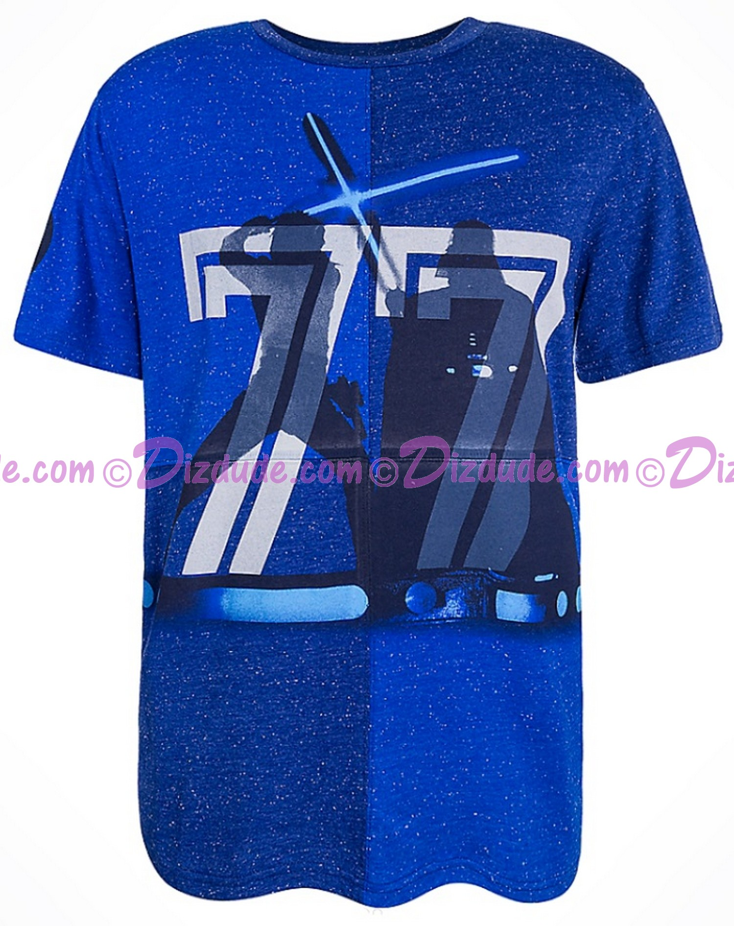 Disney Star Wars Vintage 77 Luke Skywalker & Darth Vader Dueling Adult T-Shirt (Tshirt, T shirt or Tee) © Dizdude.com