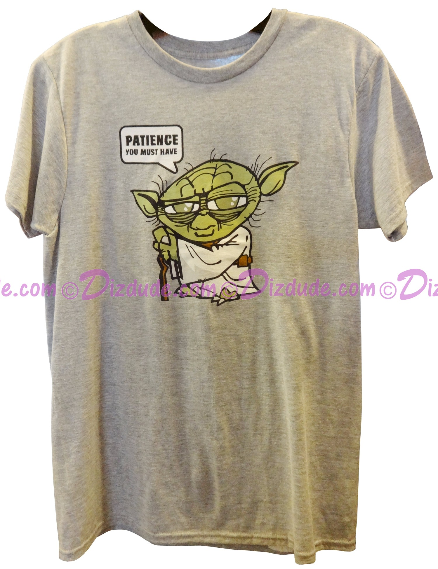 Yoda Patience You Must Have Adult T-Shirt (Tshirt, T shirt or Tee) - Disney Star Wars © Dizdude.com