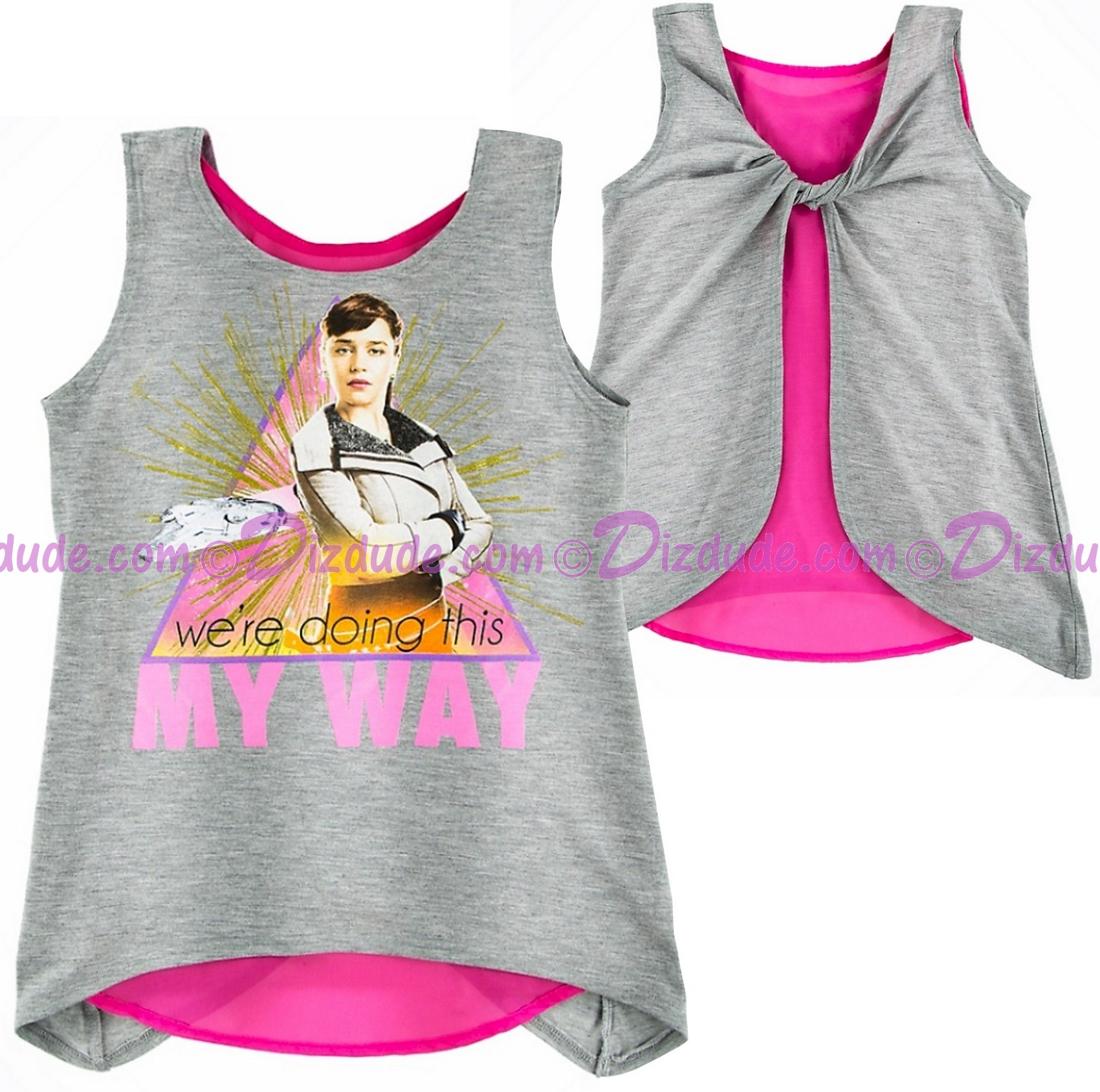 Disney SOLO A Star Wars Story Qi'ra We're Doing This My Way Youth Tank T-Shirt (Tshirt, T shirt or Tee) © Dizdude.com