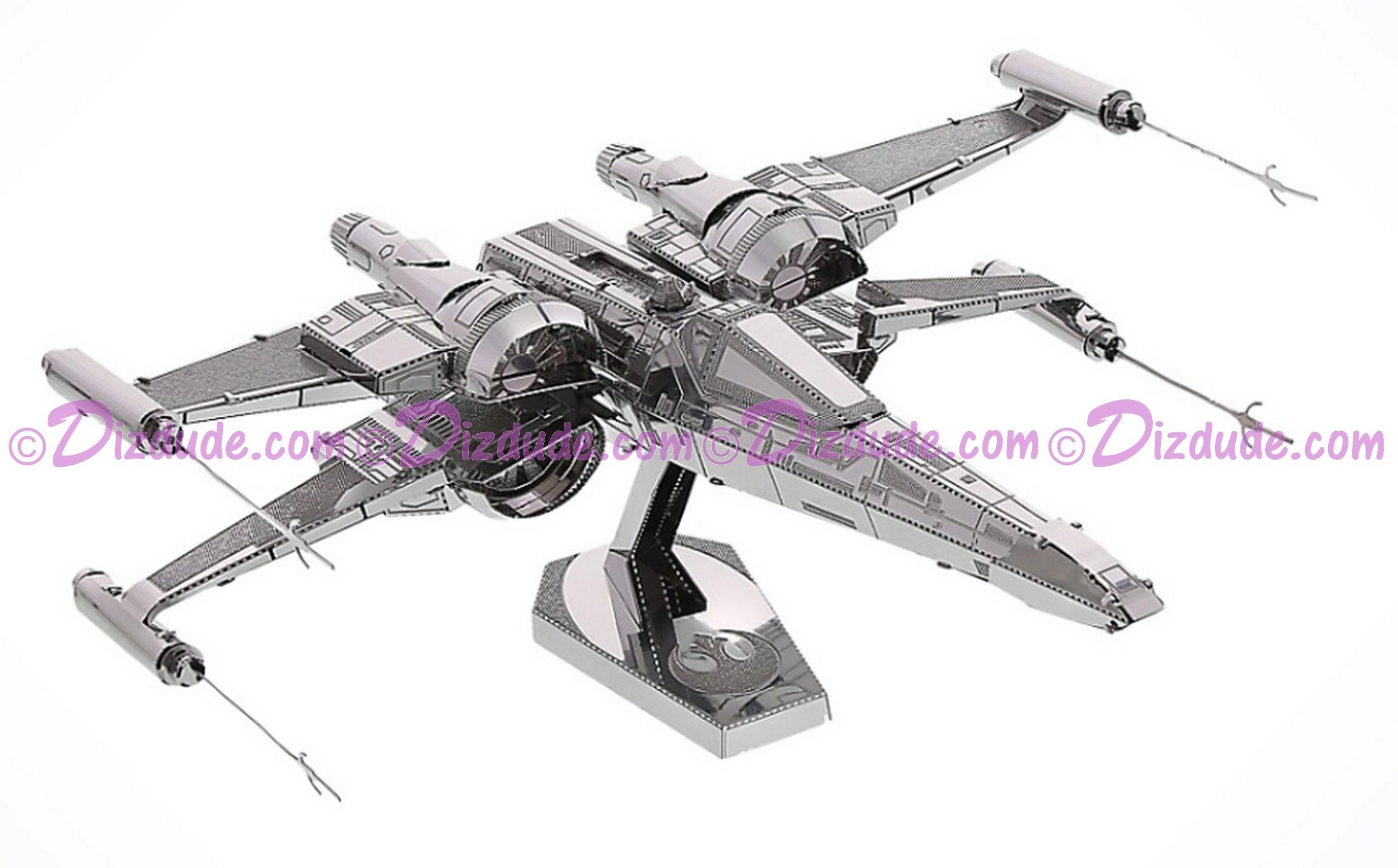 The Force Awakens Poe Dameron's X-Wing Fighter 3D Metal Model Kit ~ Disney Star Wars © Dizdude.com