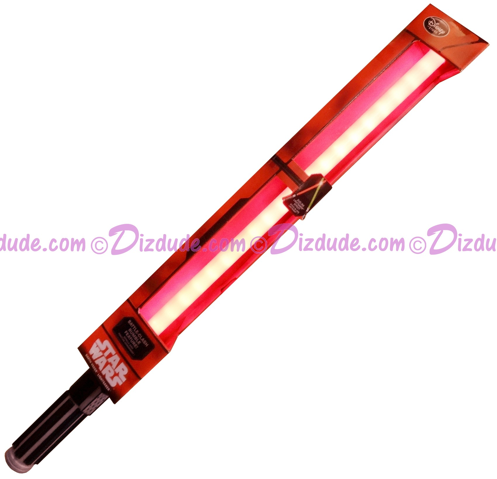 Disney Star Wars Red Darth Vader Lightsaber with Battle Clash Rumble Feature and Lights & Sound © Dizdude.com