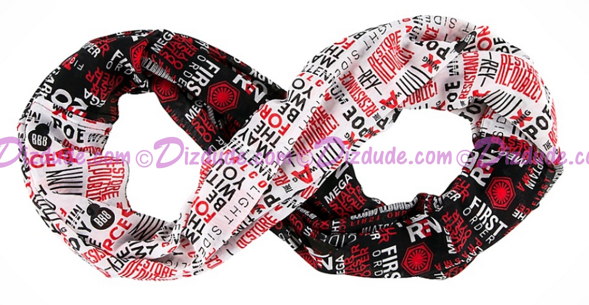 Dark Side/ Light Side Infinity Scarf ~ Disney Star Wars Episode VIII: The Last Jedi © Dizdude.com