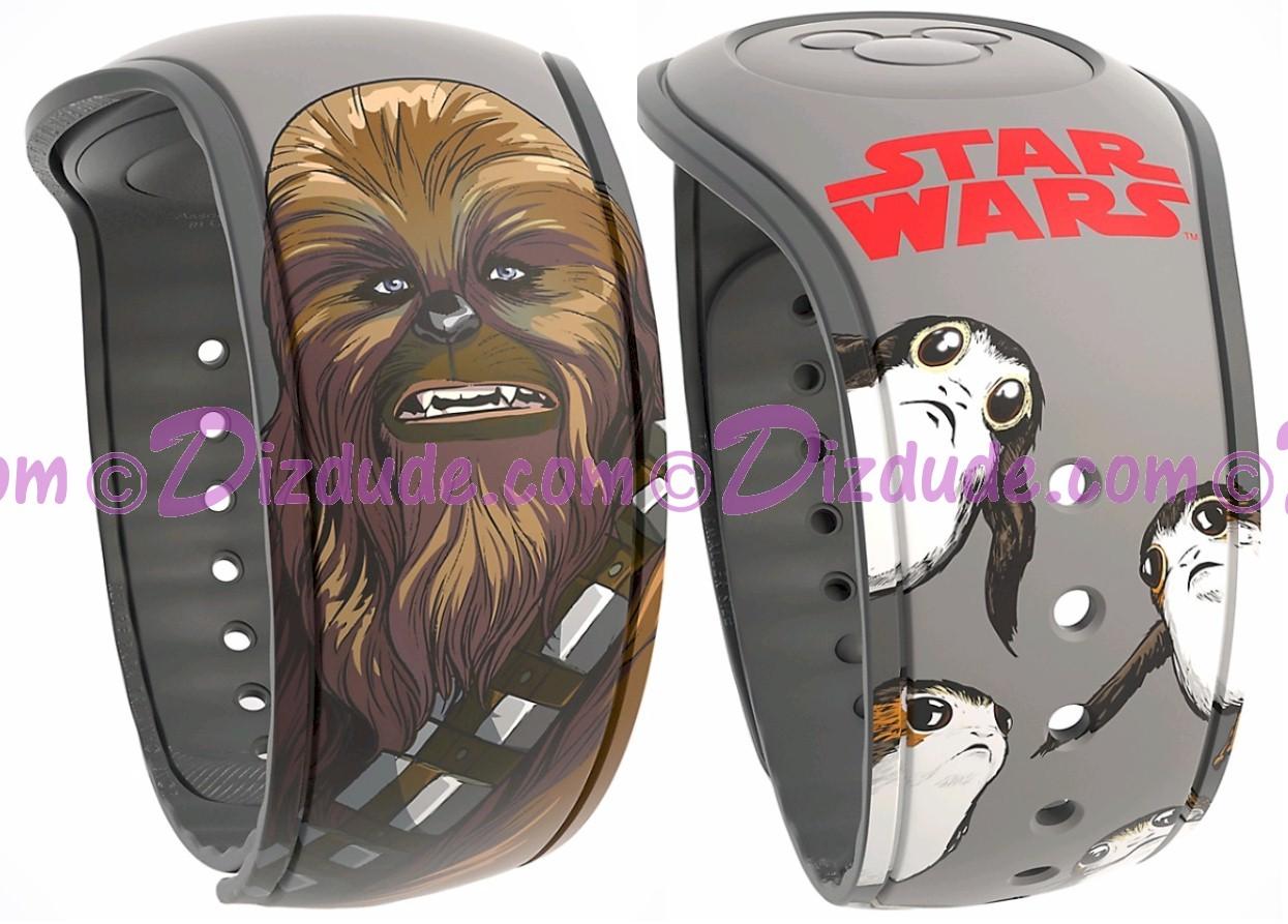 Star Wars: The Last Jedi Chewbacca & Porgs Graphic Magic Band 2 - Disney World Exclusive © Dizdude.com