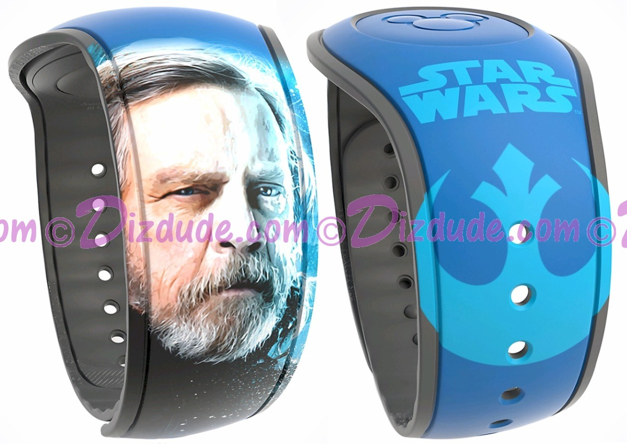 Star Wars: The Last Jedi Luke Skywalker Graphic Magic Band 2 - Disney World Exclusive © Dizdude.com