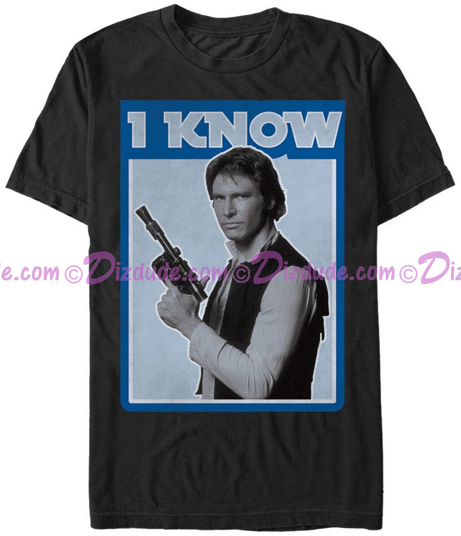 Star Wars Han Solo Famous Love Quote I Know Adult Companion T-Shirt (Tshirt, T shirt or Tee) © Dizdude.com