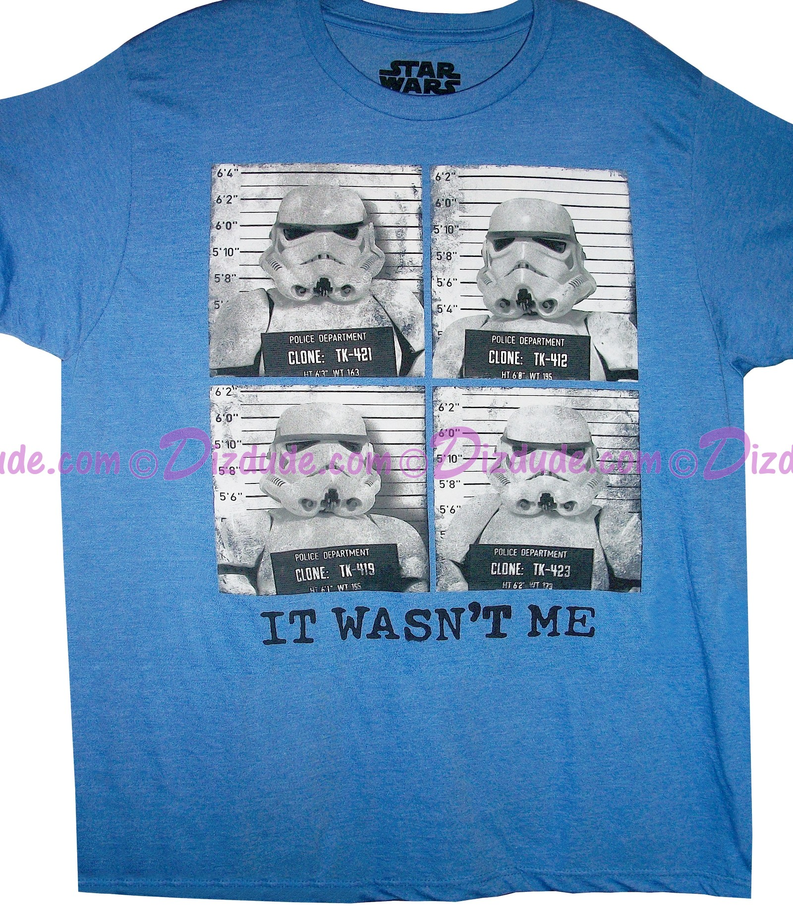 "Disney Star Wars Stormtrooper ""It Wasn't Me"" Adult T-Shirt (Tshirt, T shirt or Tee) © Dizdude.com"