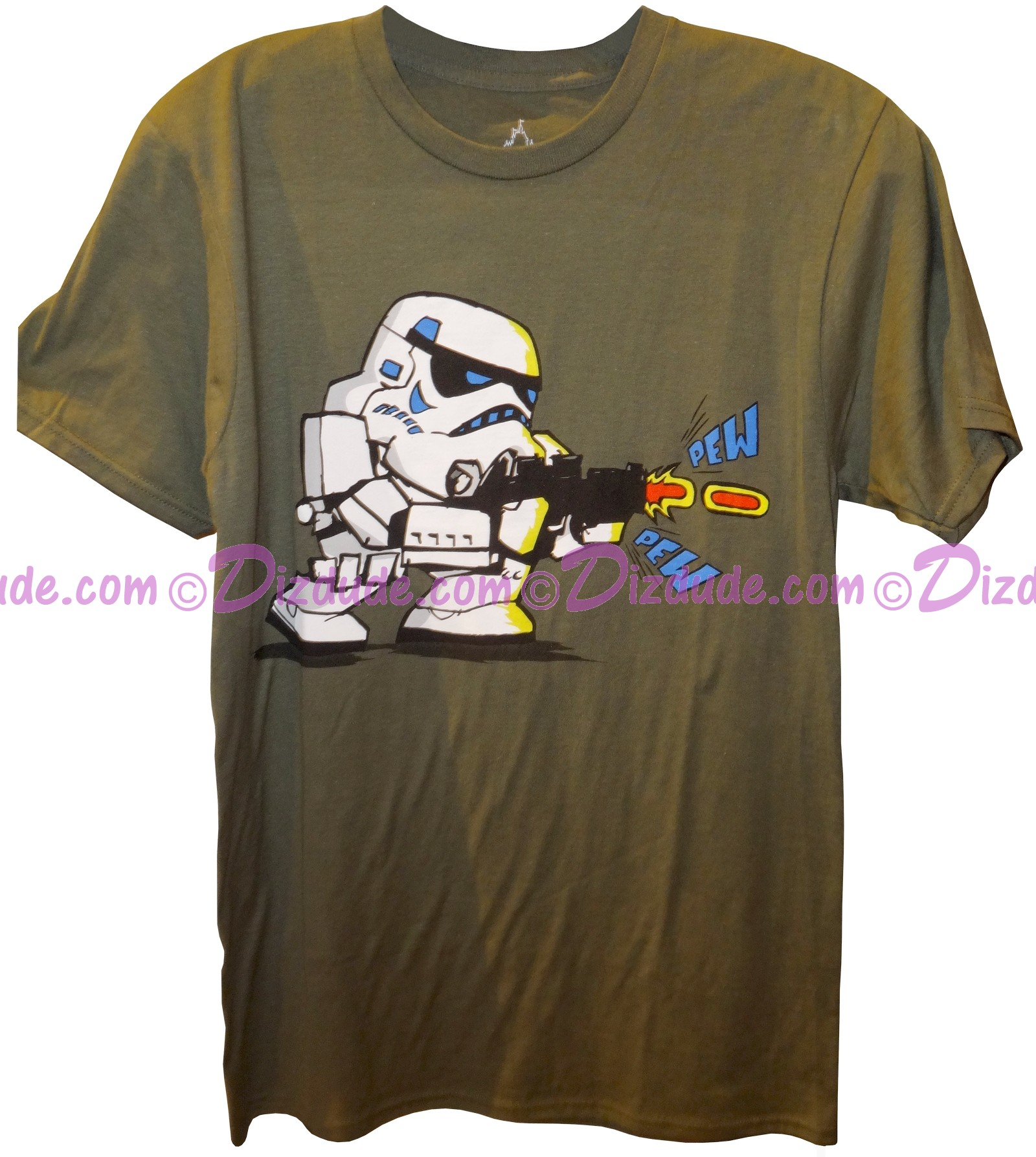 Disney Star Wars Stormtrooper Pew Pew Adult T-Shirt (Tshirt, T shirt or Tee) © Dizdude.com