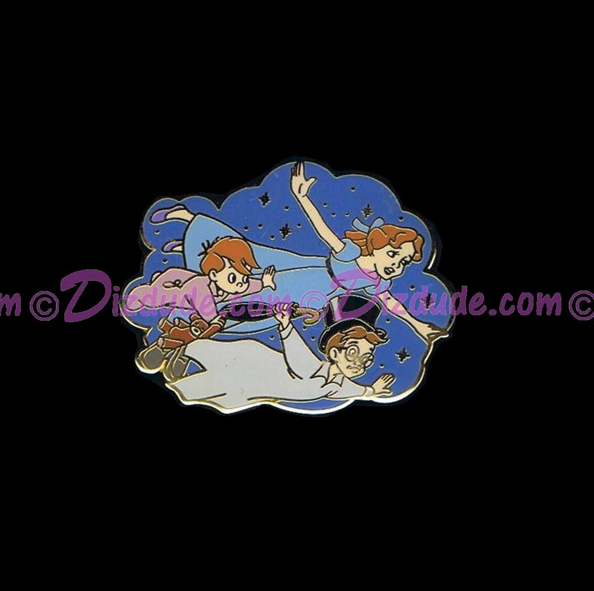 Walt Disney World Peter Pan Wendy John And Michael Flying Pin C Dizdude