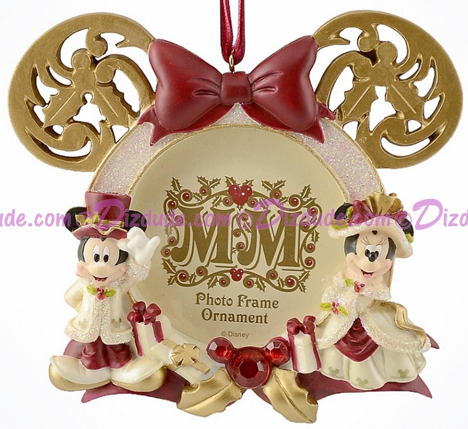 disney victorian mickey mouse and minnie mouse photo frame christmas ornament dizdudecom