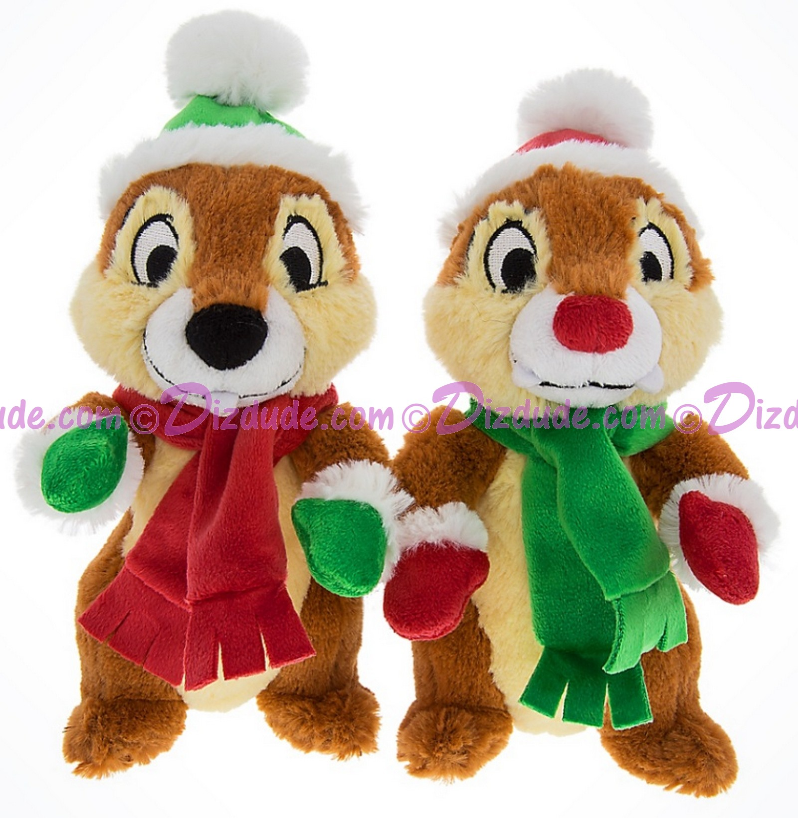 Disney Santa Elf's Chip 'N' Dale 7inch Plush Set © Dizdude.com