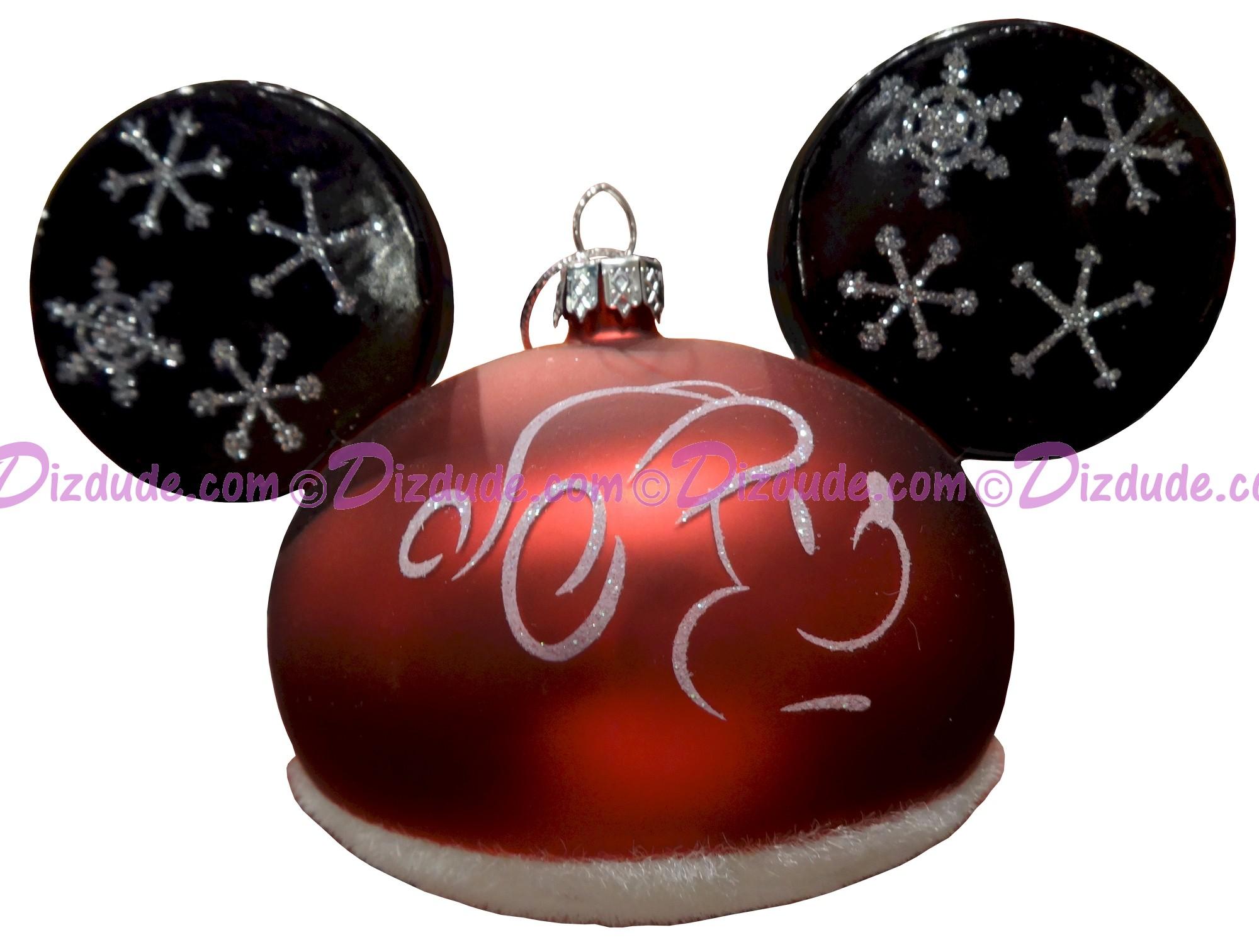 Disney Silhouette Santa Mickey Mouse Ears Christmas Ornament © Dizdude.com
