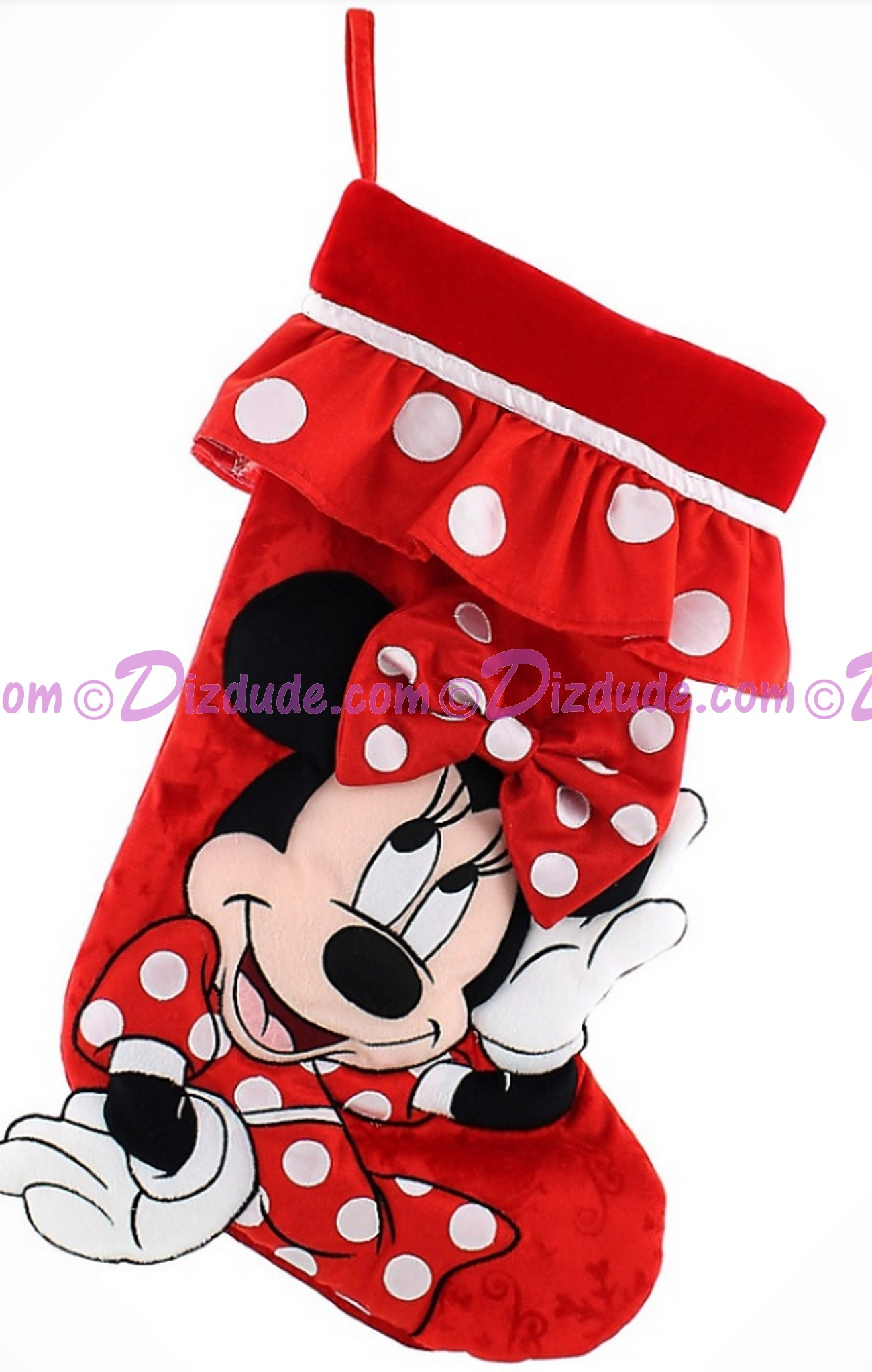 Disney Minnie Mouse Plush Christmas Stocking © Dizdude.com