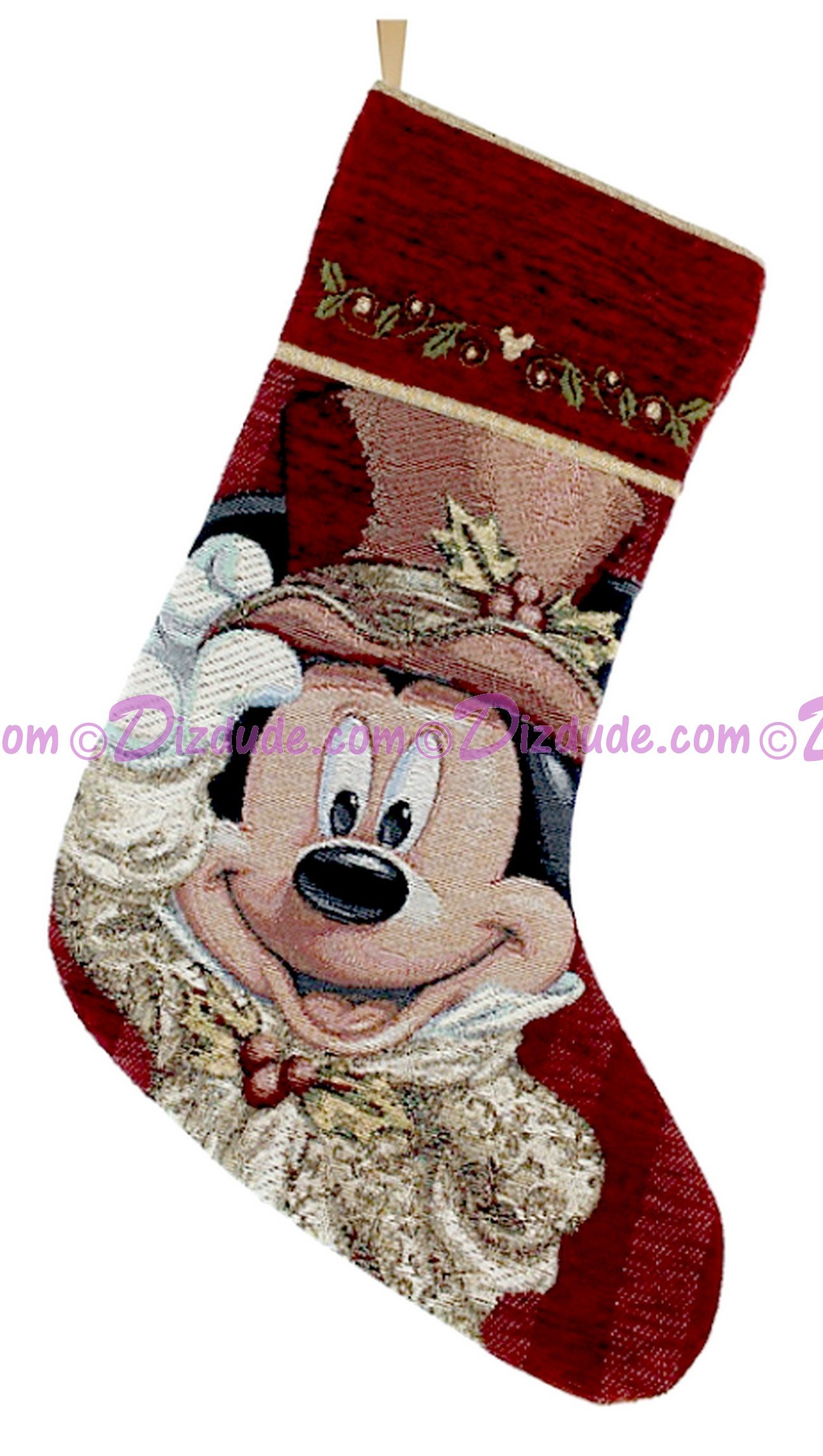 Disney Victorian Mickey Tapestry Christmas Stocking © Dizdude.com