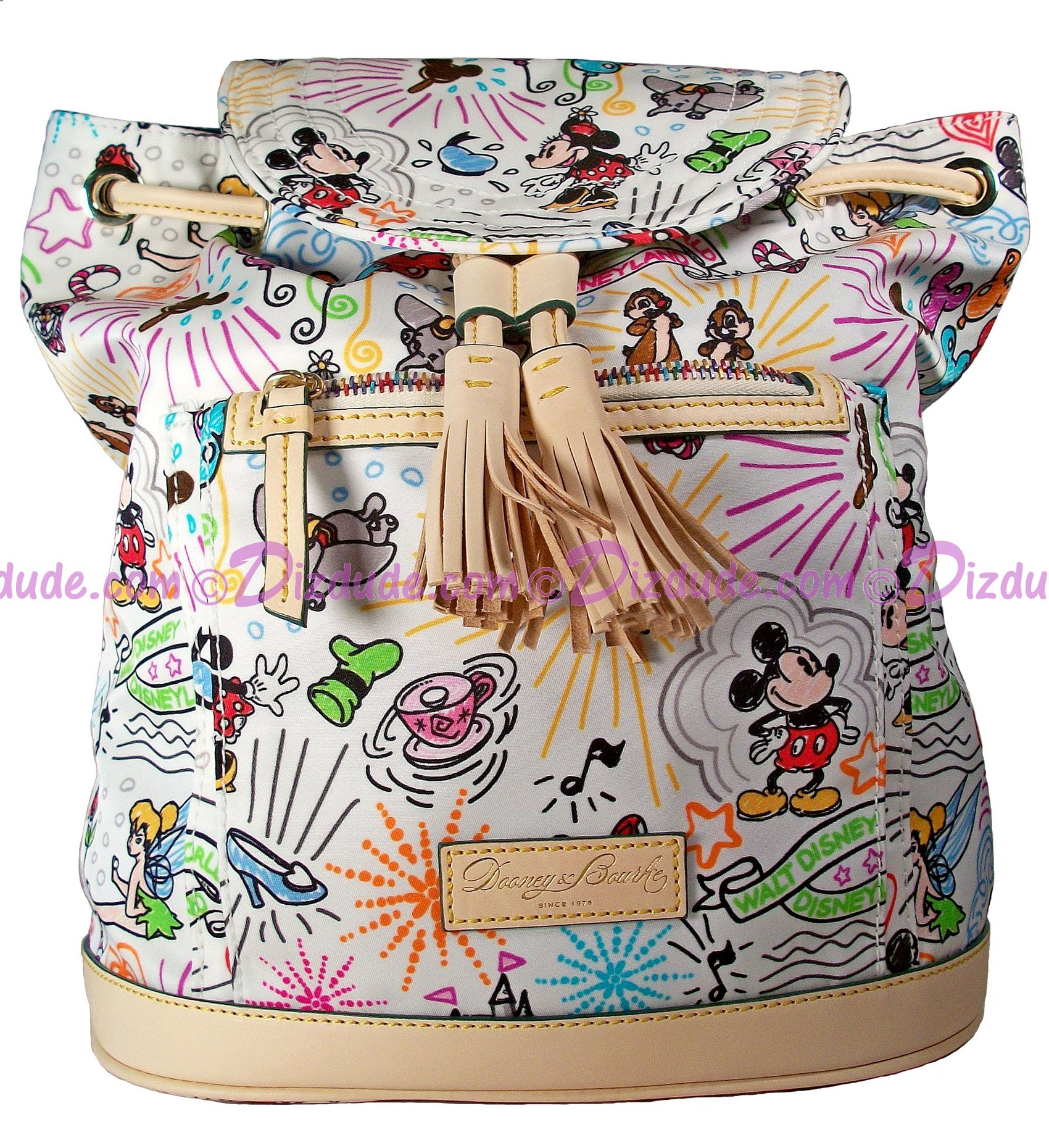 Dooney & Bourke Disney World Exclusive Classic Sketch Backpack  Front © Dizdude.com