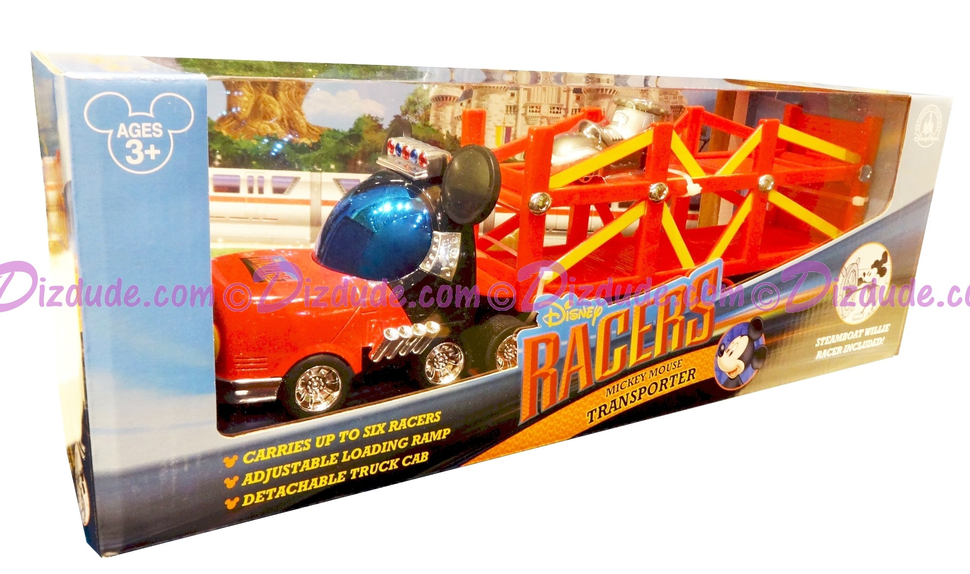 Disney Racer Mickey Mouse Transporter - With Steamboat Willie Racer