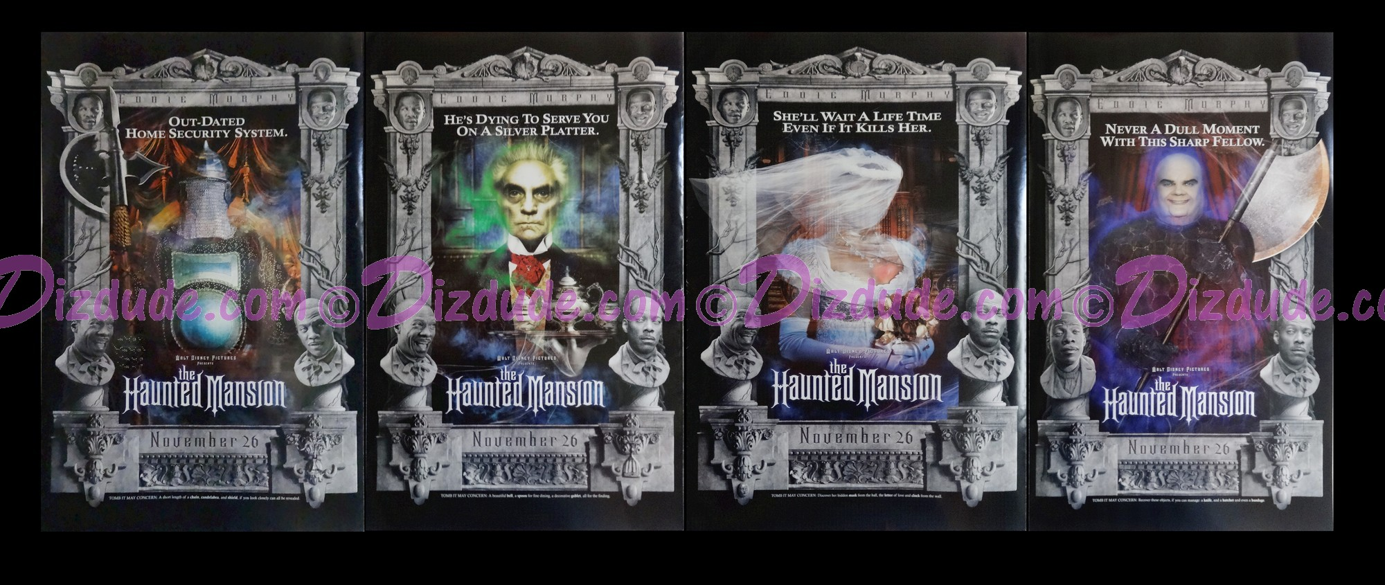 "Disney Movie Poster ""The Haunted Mansion"" From 2003"