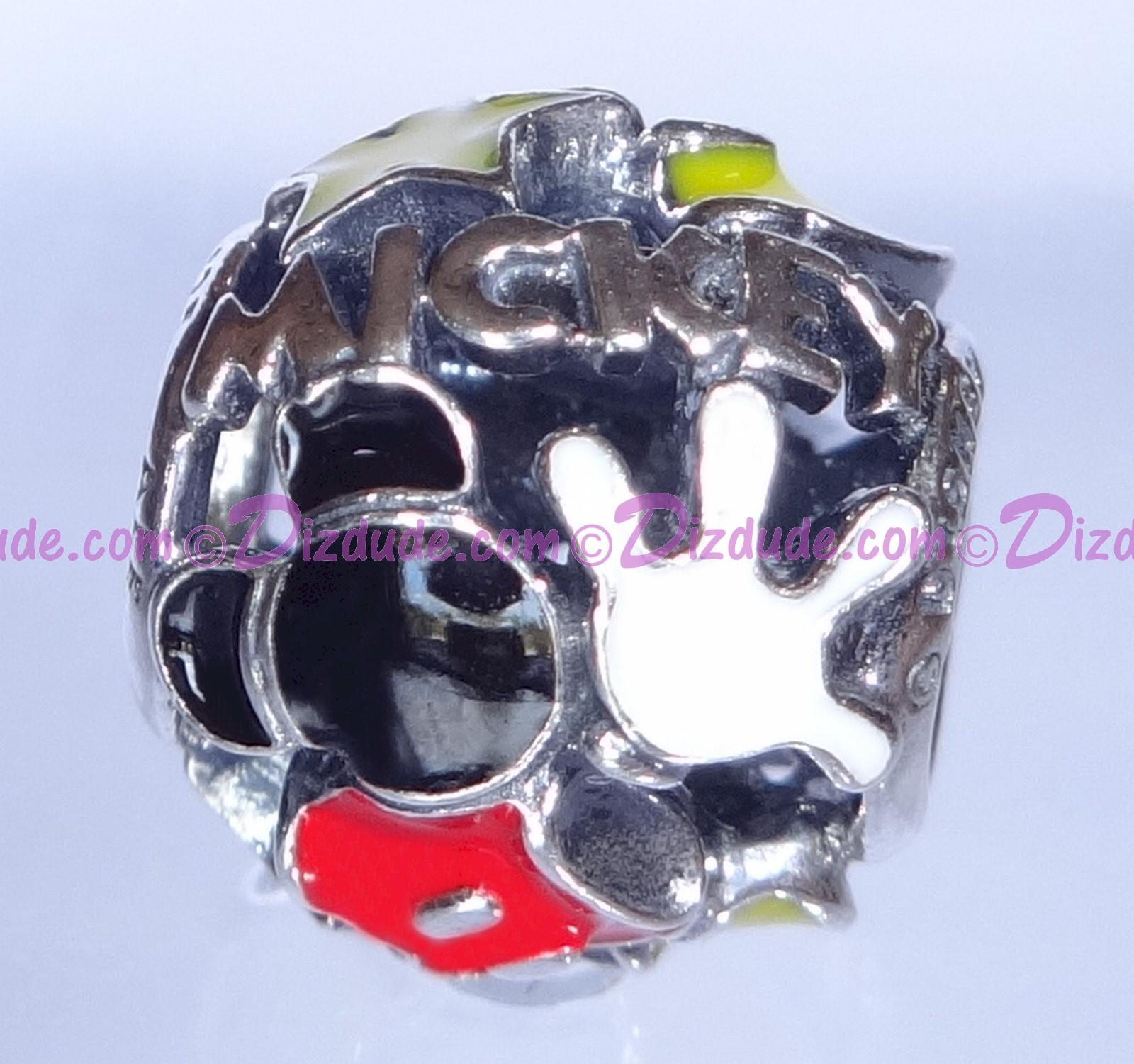"""Disney Pandora """"Mickey Mania"""" Sterling Silver Charm"""