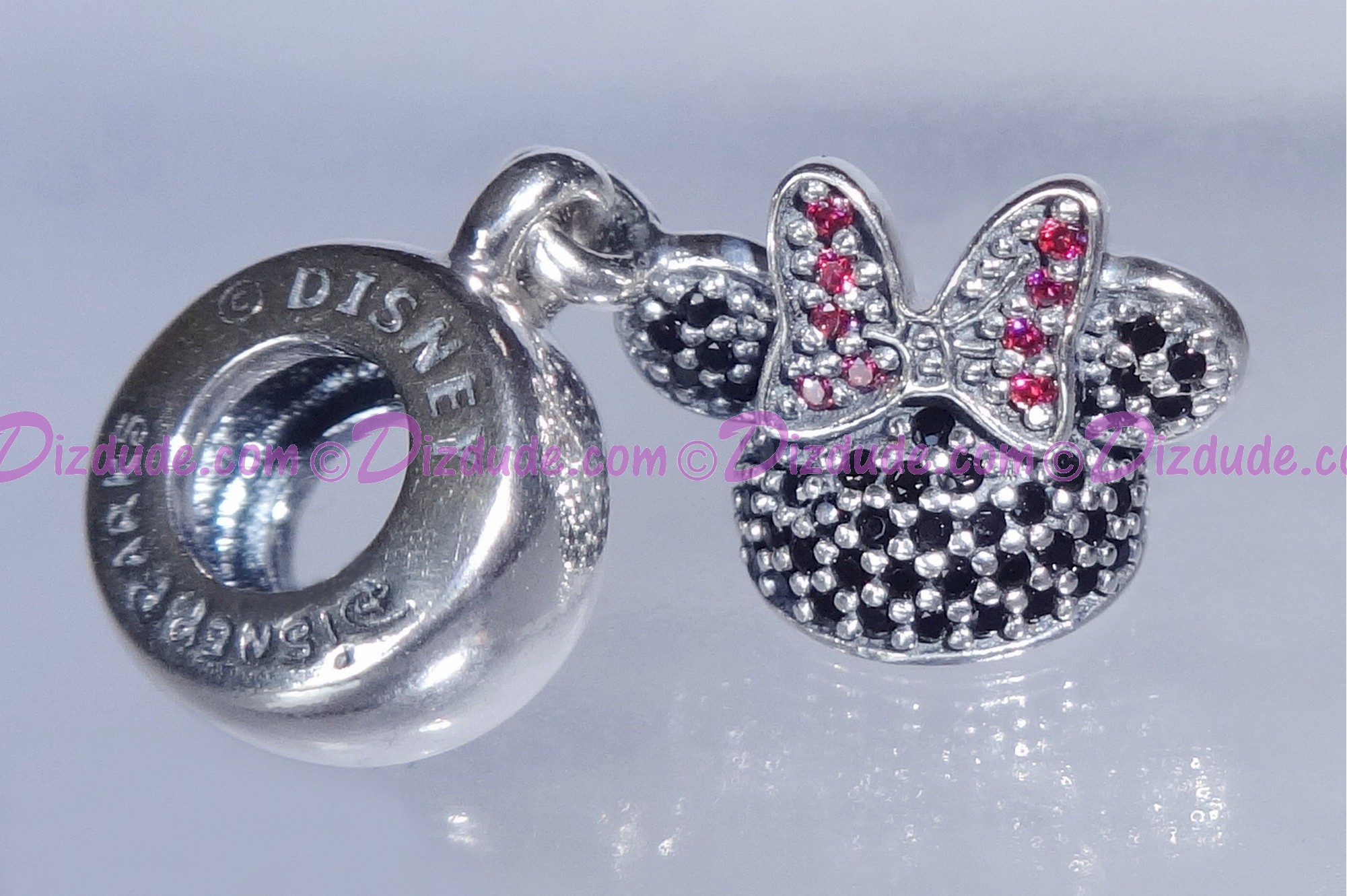 "Disney Pandora ""Minnie Sparkling Ear Hat"" Sterling Silver Charm with Cubic Zirconias"