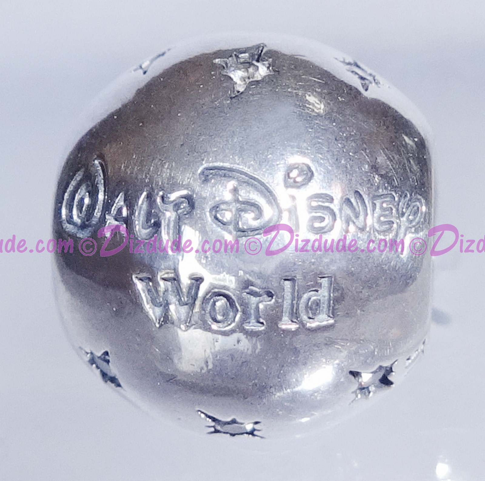 "Disney Pandora ""Walt Disney World"" Sterling Silver Charm with Cubic Zirconias"