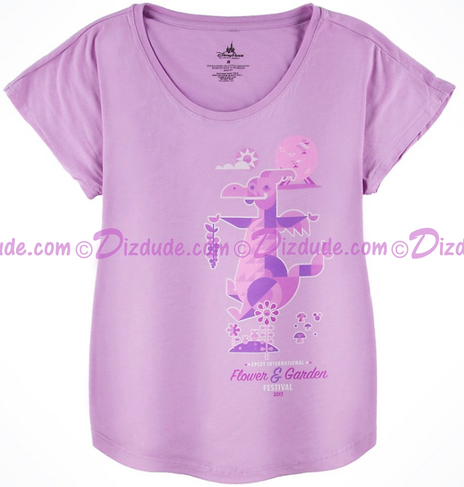 dizdude | figment adult t-shirt - disney epcot international