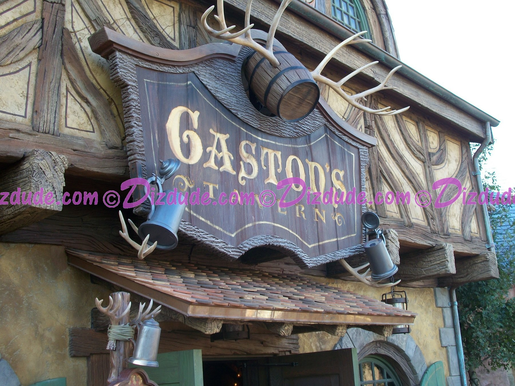 Gastons Tavern Sign - Disney Magic Kingdom