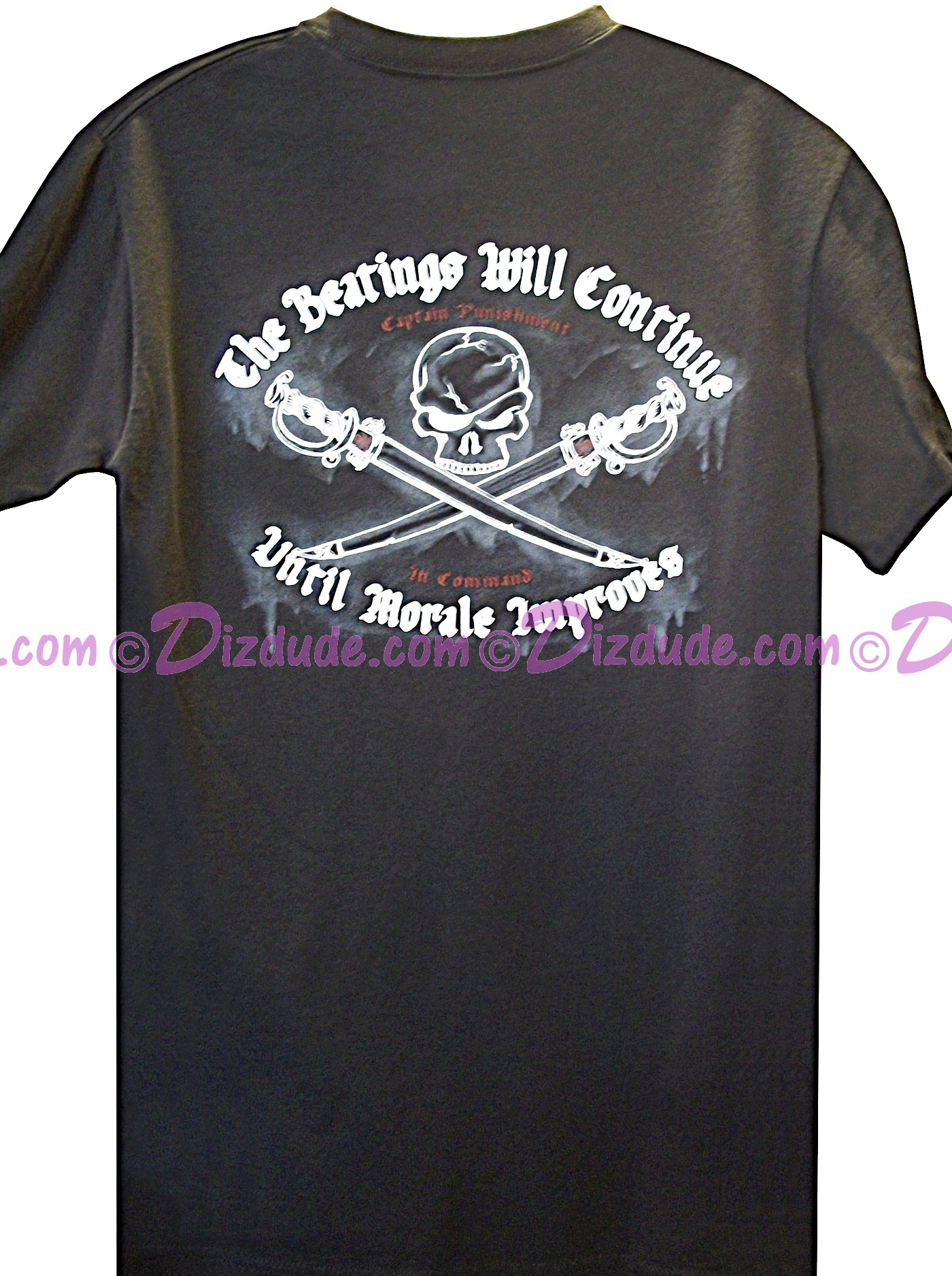 "Pirates of the Caribbean ""The Beatings Will Continue Until Moral Improves"" Embroidered T-shirt"