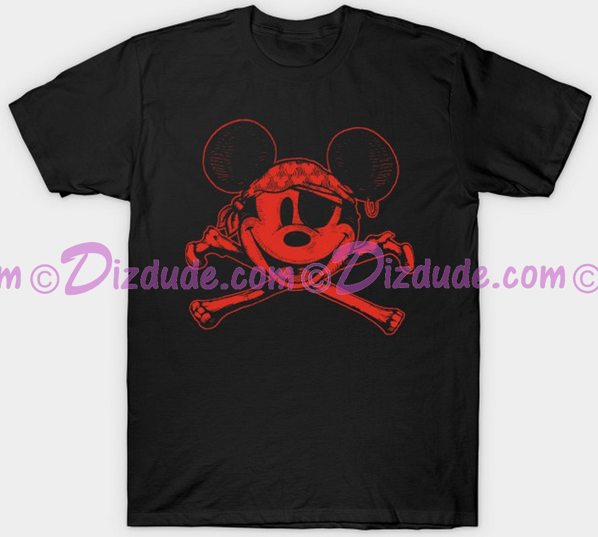 Vintage Disney Pirate of the Caribbean Pirate Mickey Mouse and Cross Bones T-shirt