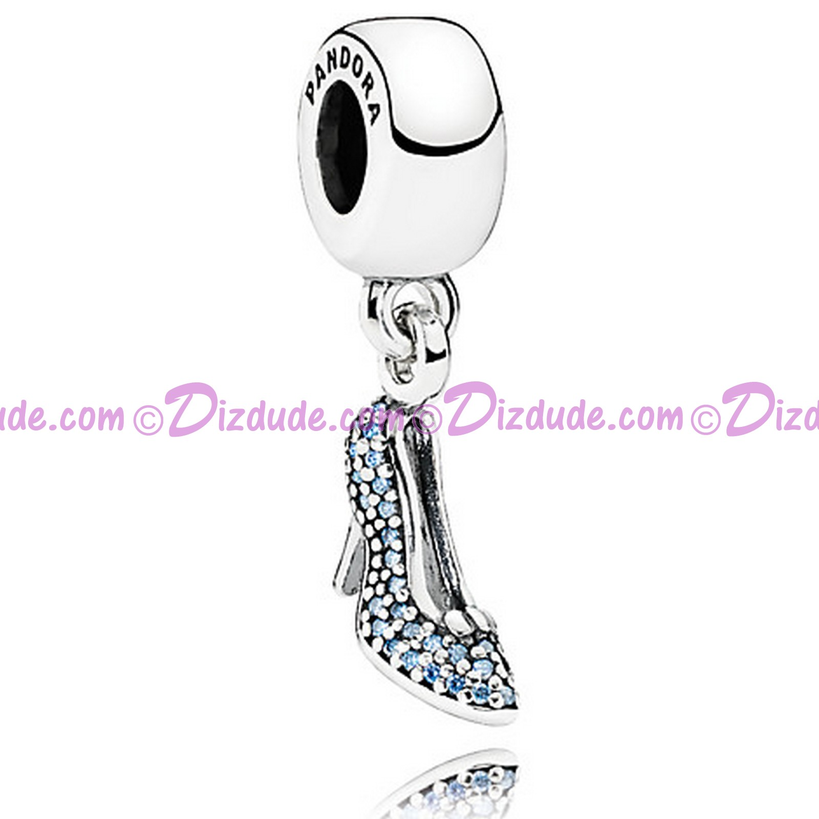 "Disney Pandora ""Sparkling Cinderelaa Slipper"" Sterling Silver Charm with Cubic Zirconias"